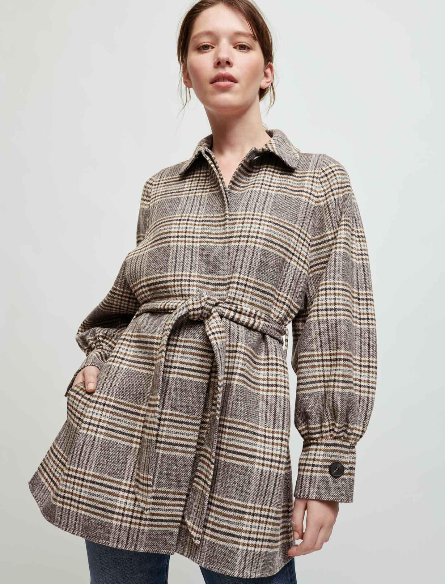 CHECKED DOUBLE FACE COAT