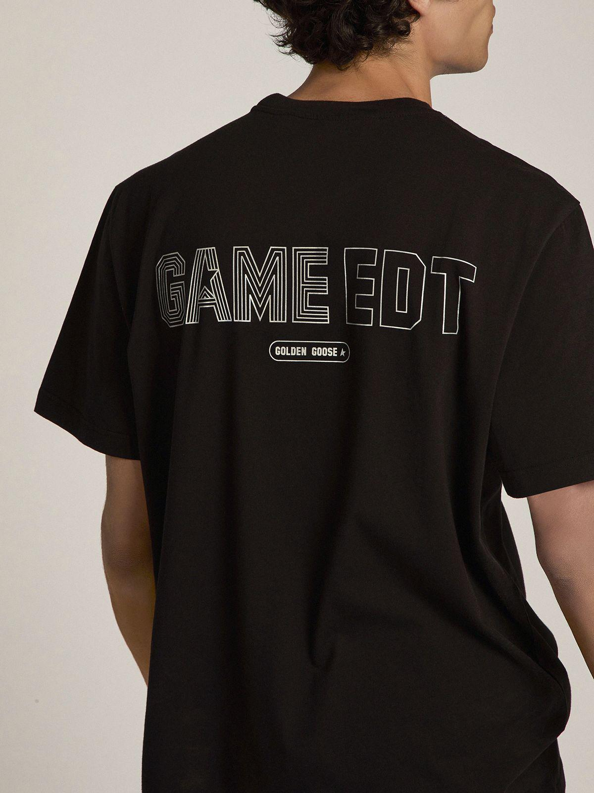 Black T-shirt Game EDT Capsule Collection with contrasting logo 4