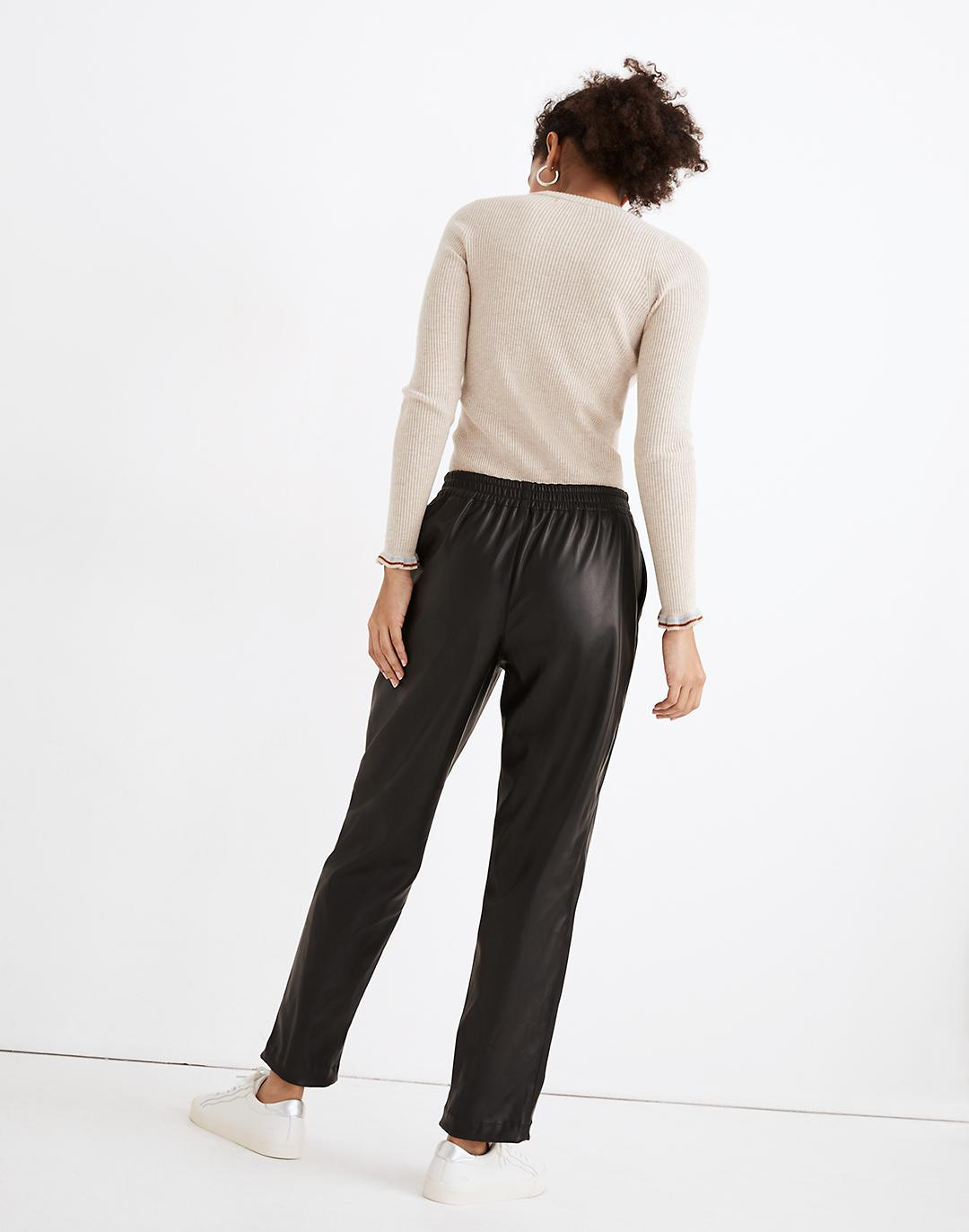 Vegan Leather Track Trousers 2