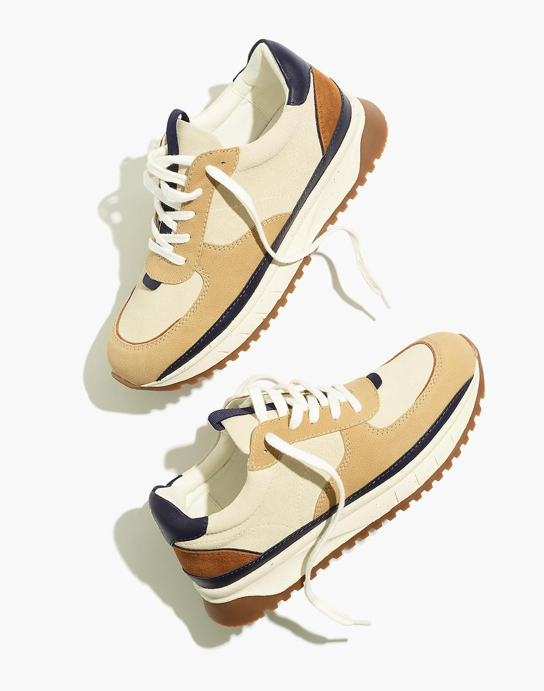 Kickoff Trainer Sneakers in Suede and Nubuck