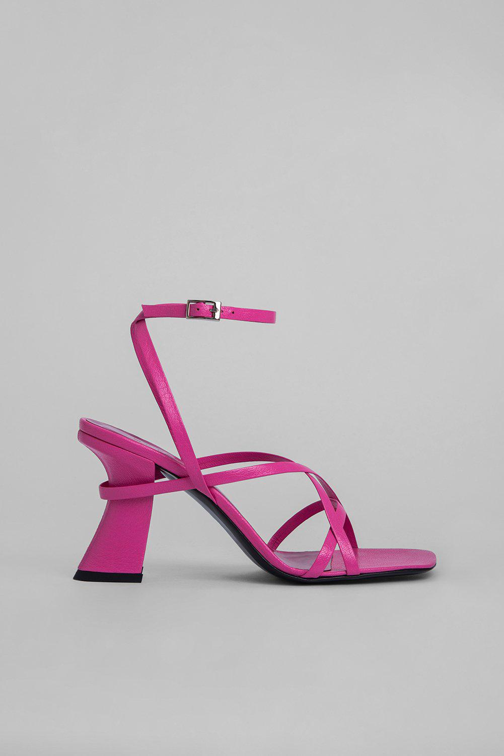 Kersti Hot Pink Grained Leather