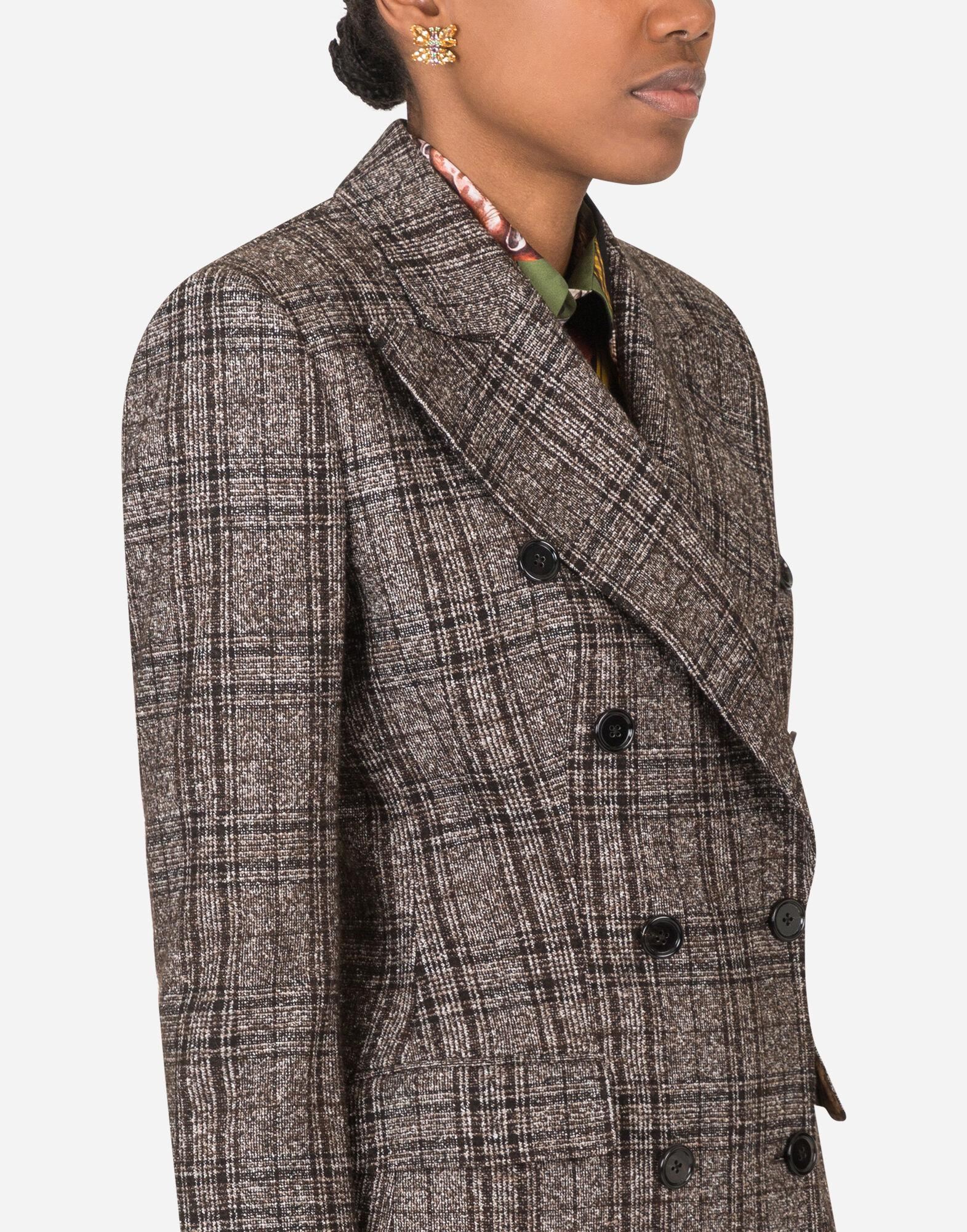 Double-breasted jacket in checked tartan 2