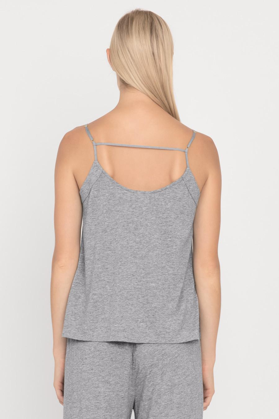 Women's Pima Cami Top in Heather Grey   Size: Large   Pima Modal Blend by Cuyana 2