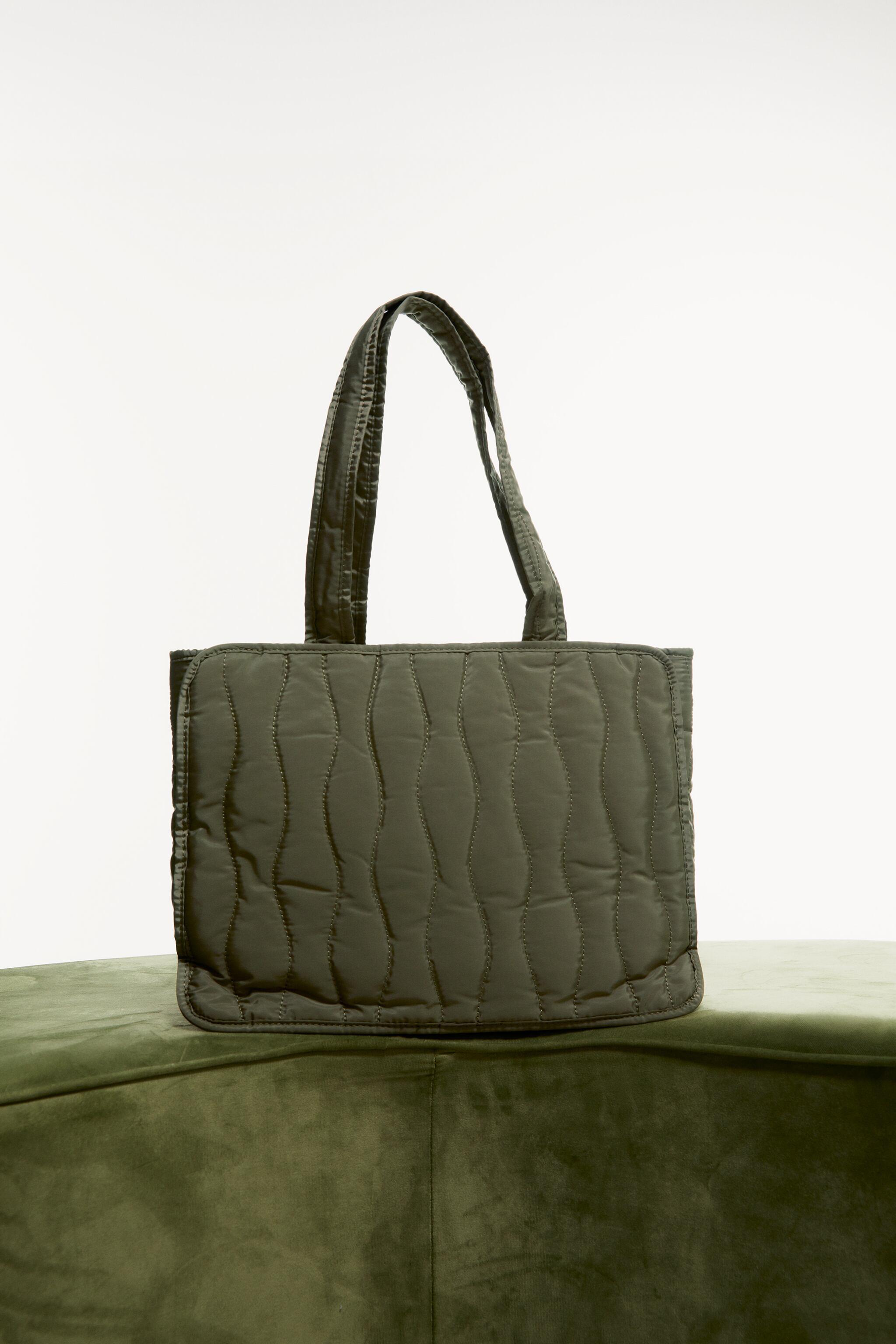 GINGHAM LINED QUILTED SHOPPER