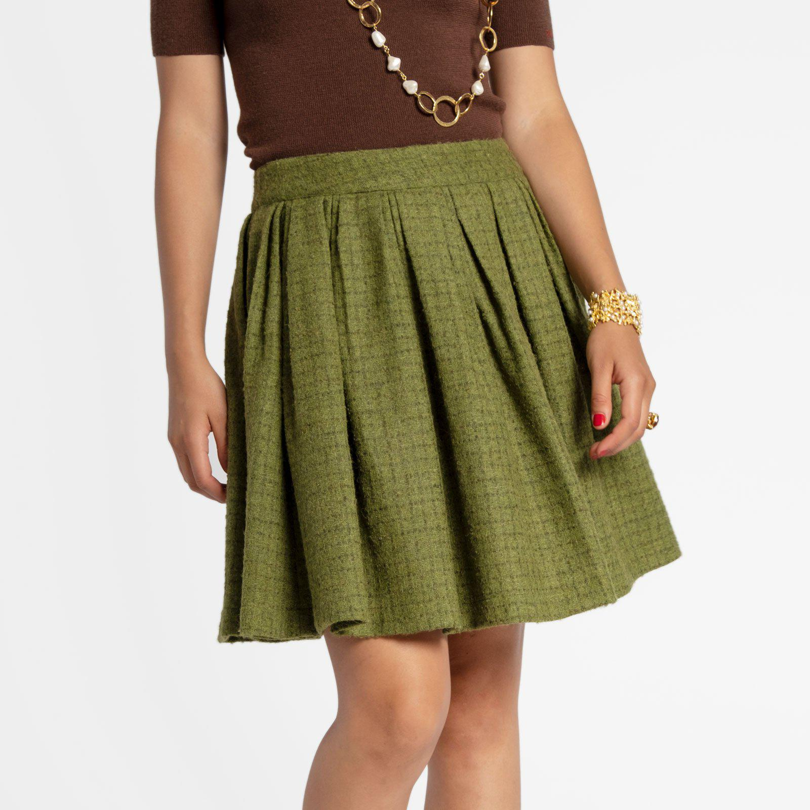 Claire Skirt Wool Green