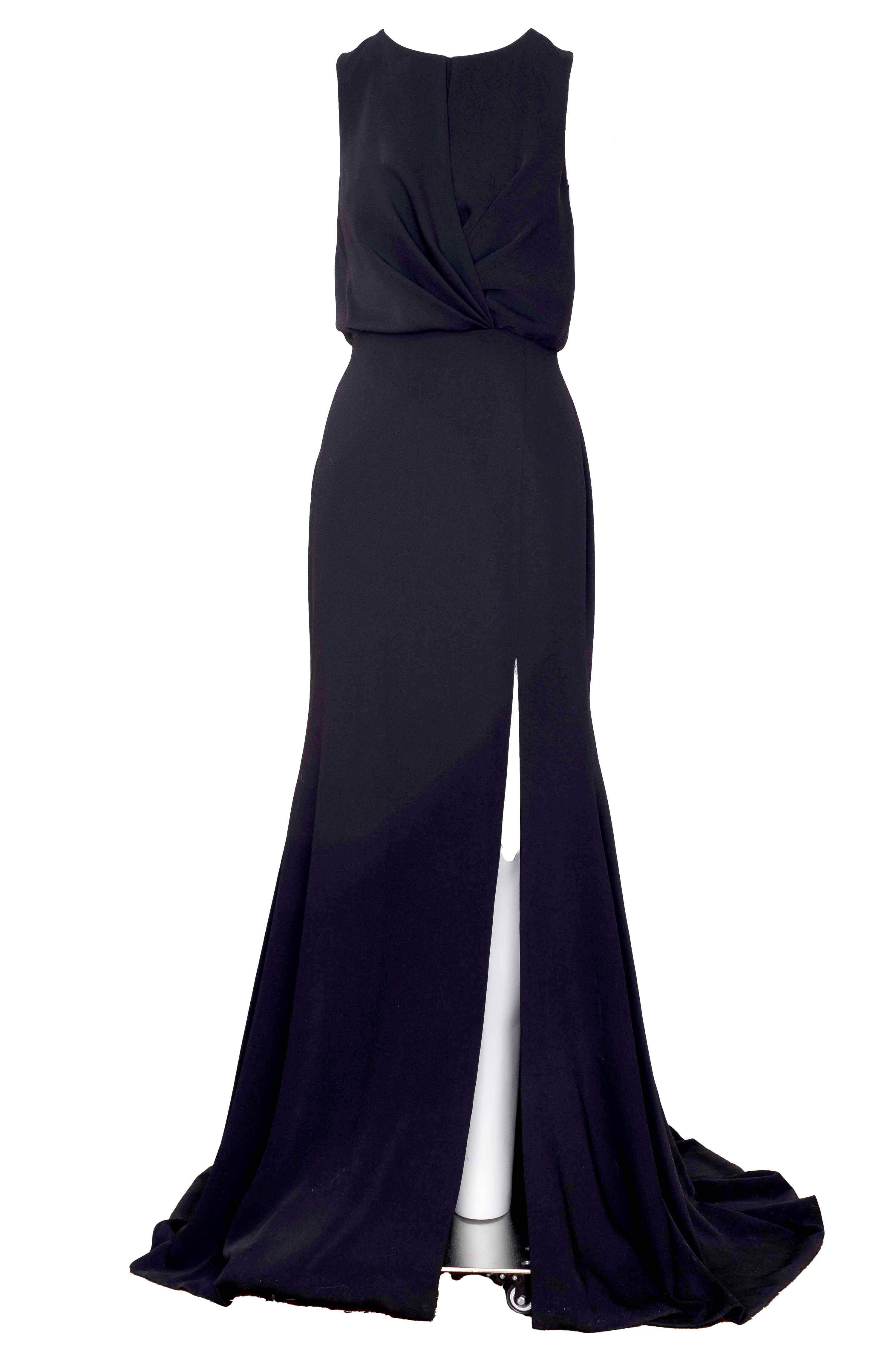 CREPE DRAPED GOWN 1