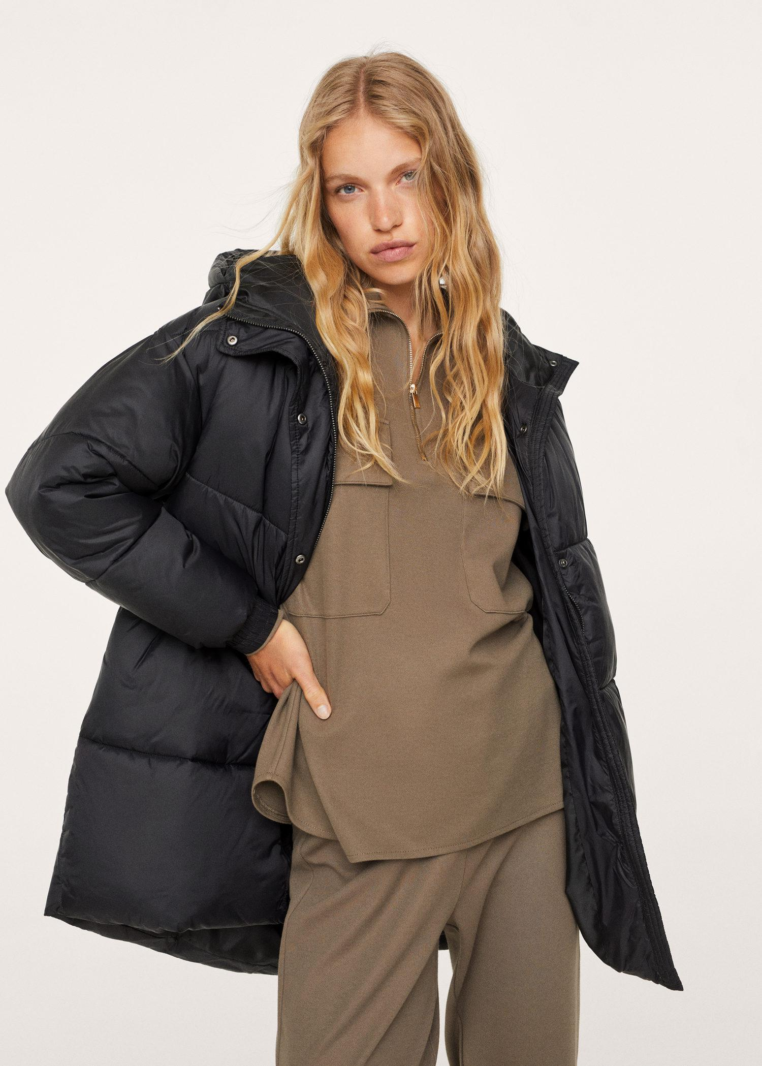 Hooded liner quilted coat