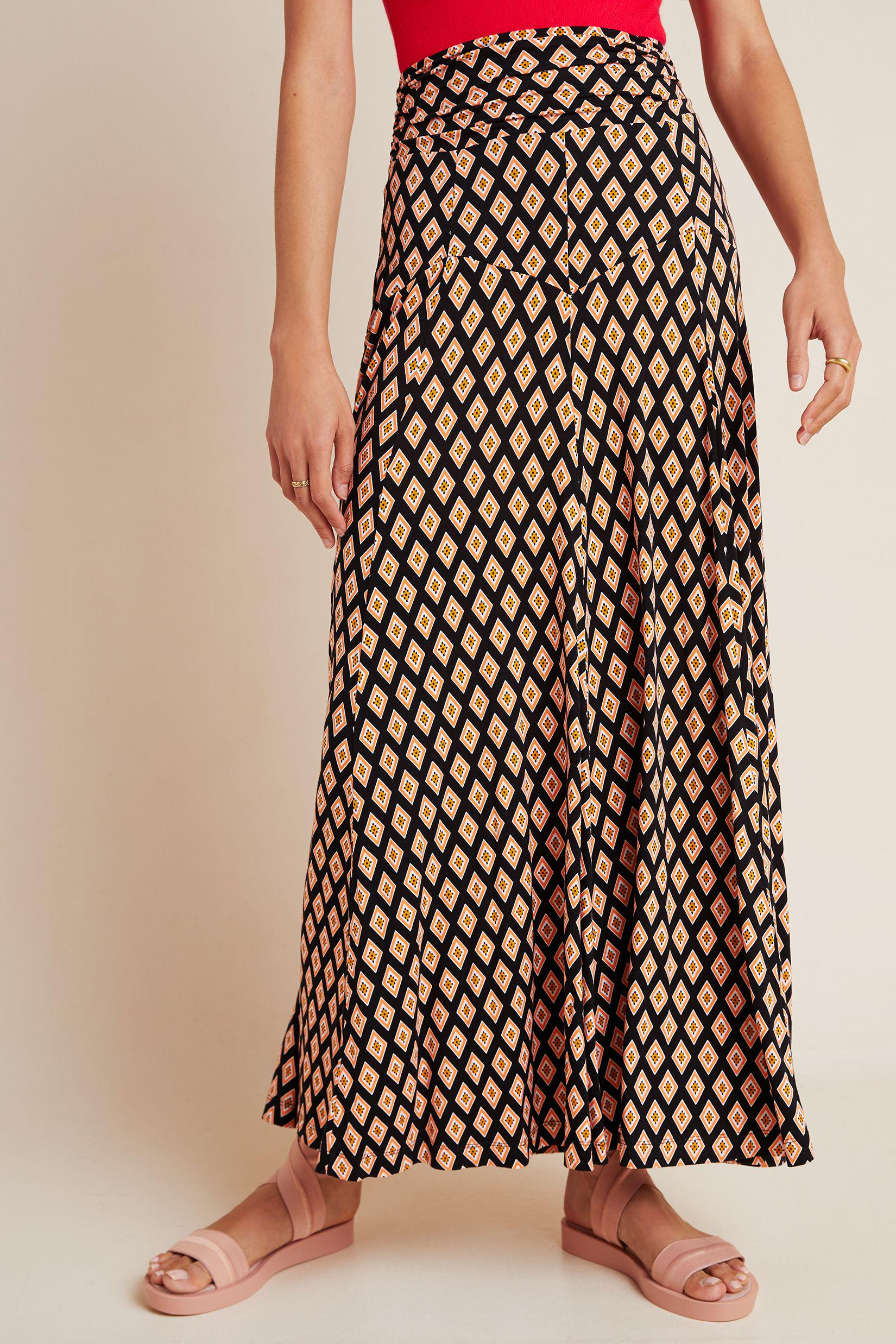 Maeve Abstract Maxi Skirt 1