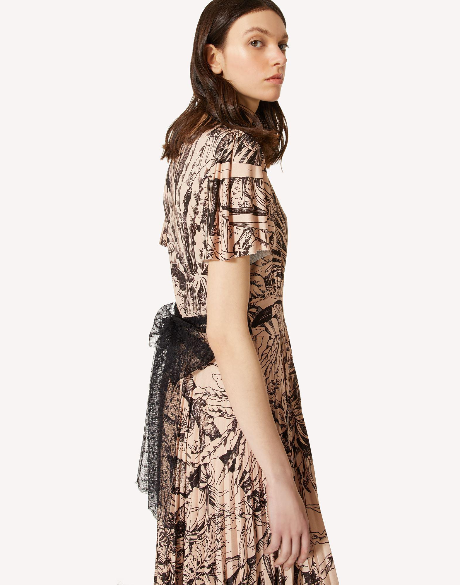 JERSEY DRESS WITH JUNGLE TOILE PRINT 3