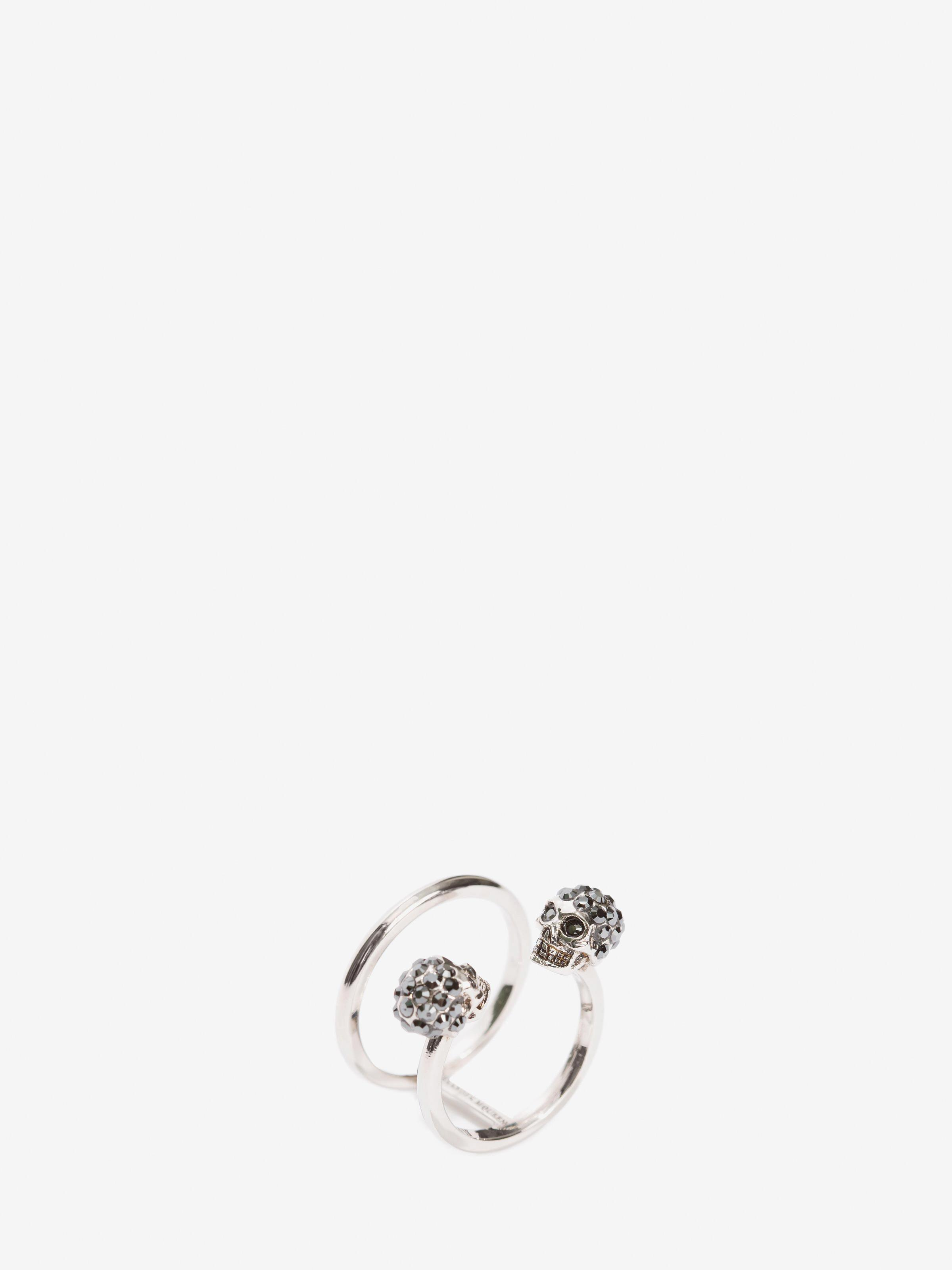 Twin Skull Double Ring 1