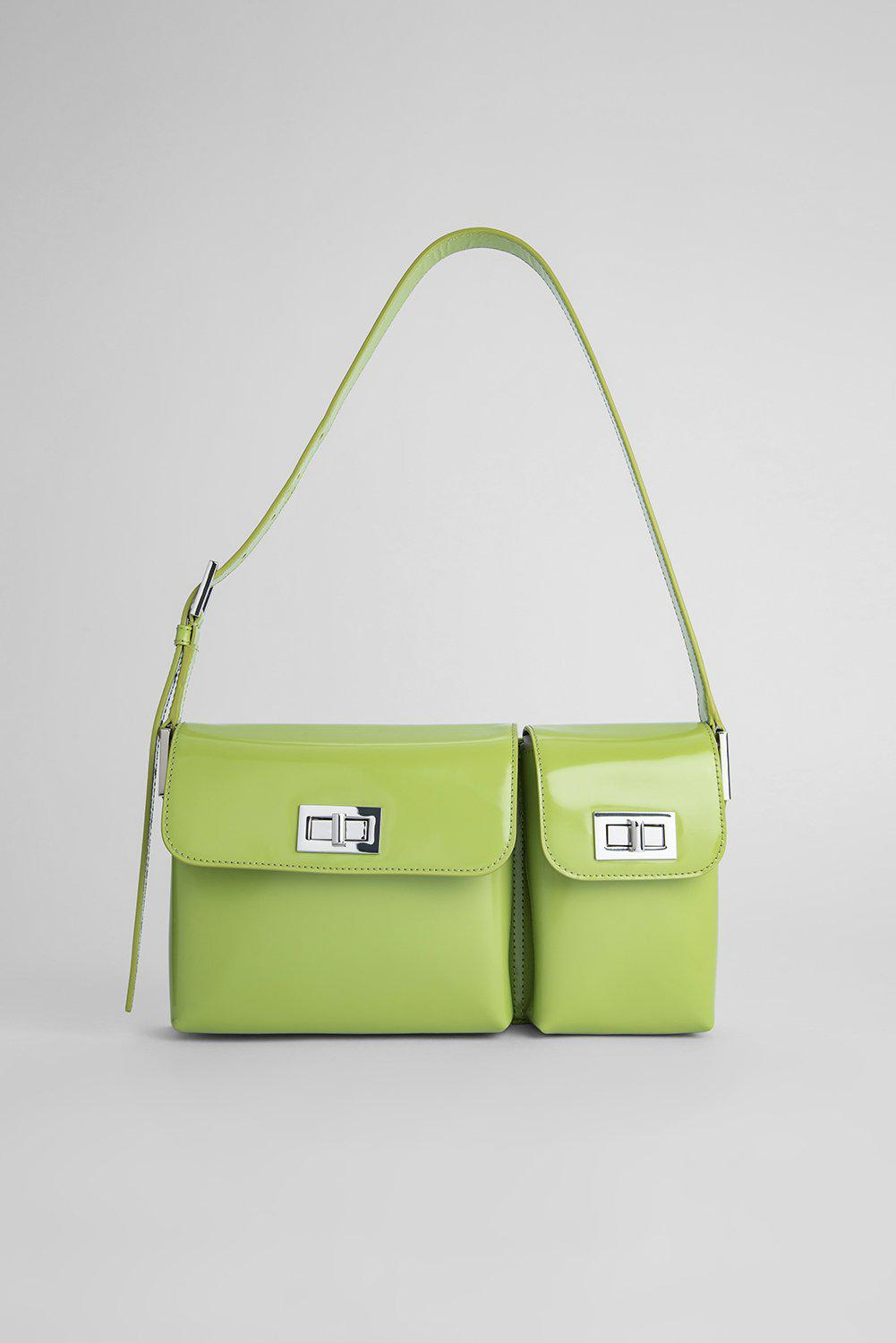 Billy Lime Green Semi Patent Leather