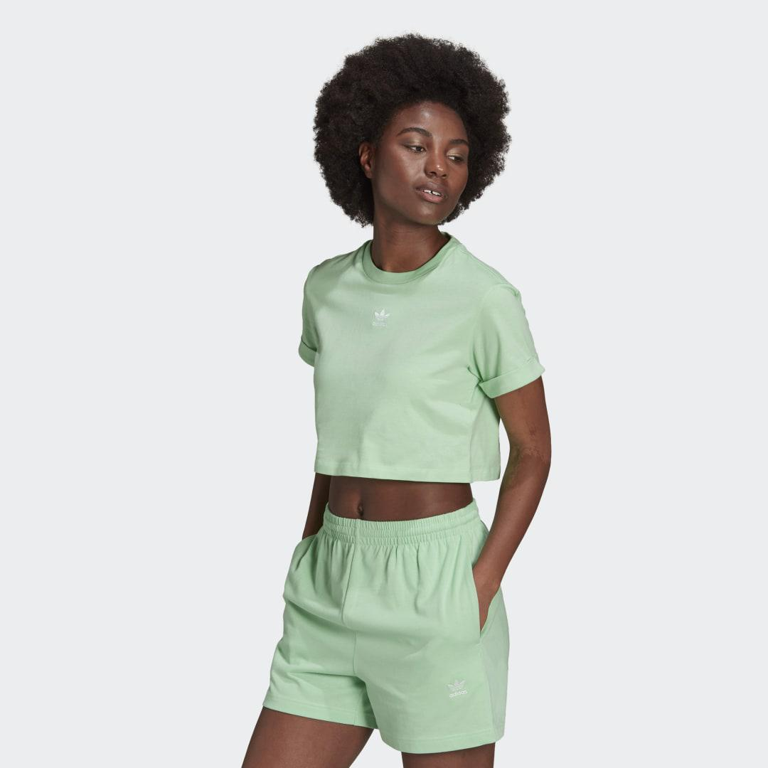 Adicolor Essentials Cropped Tee Glory Mint