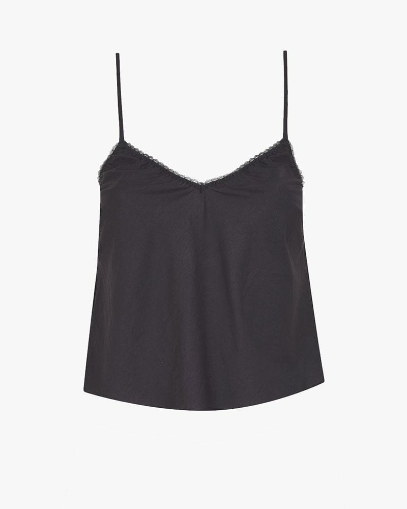 Woven cotton cami charcoal 2