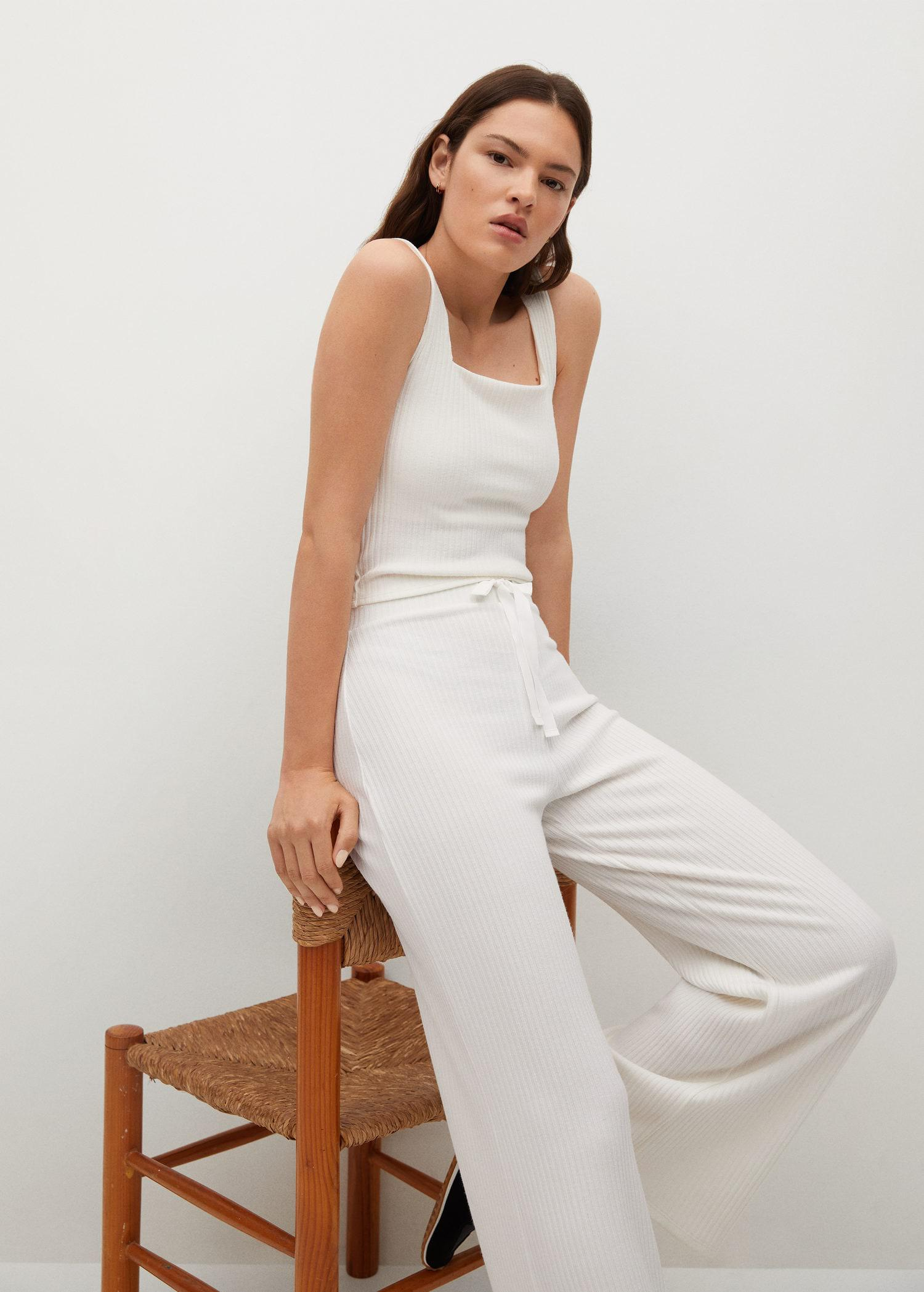 Ribbed knit trousers 4