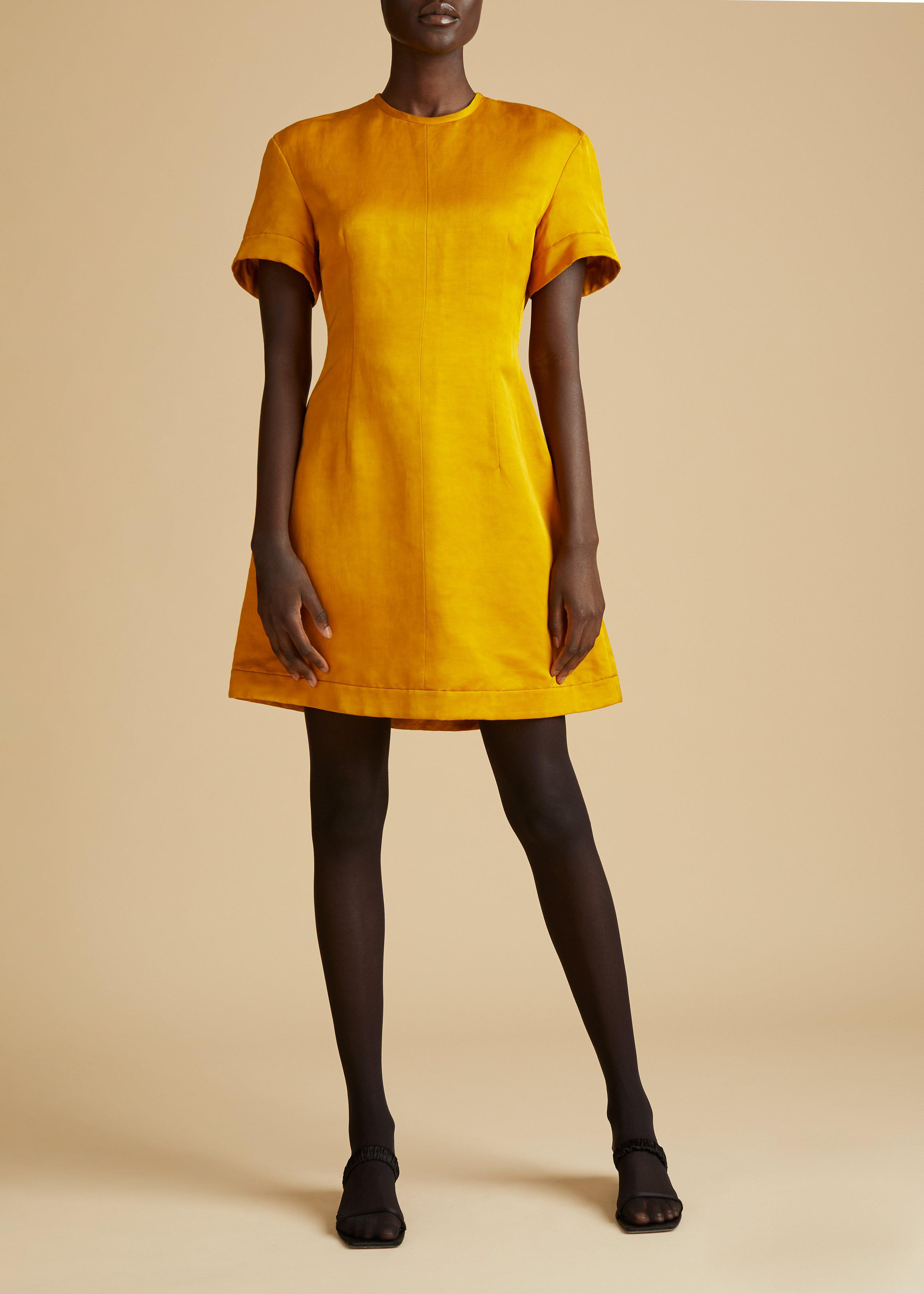 The Marcia Dress in Marigold