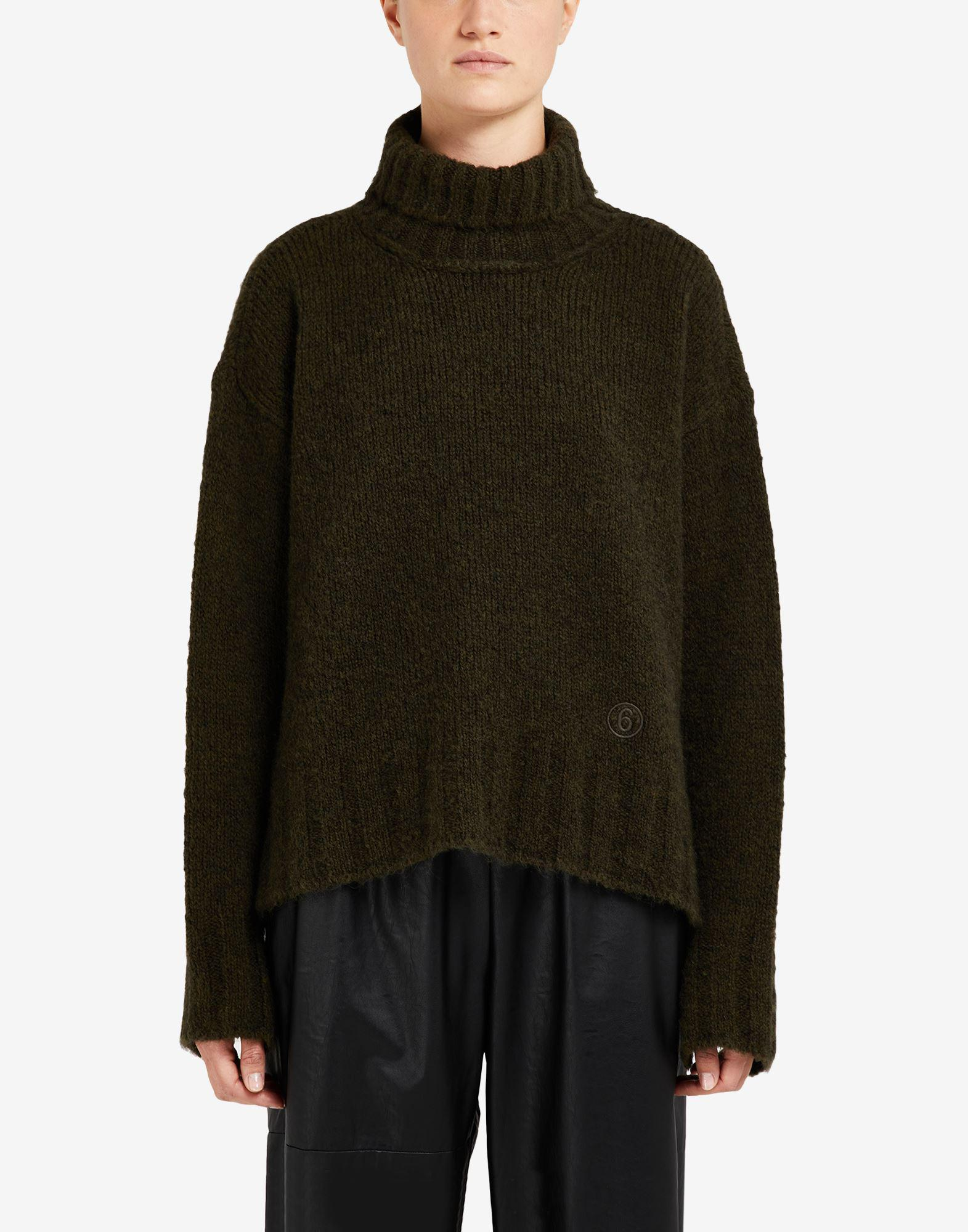 Hairy knit roll-neck sweater 3