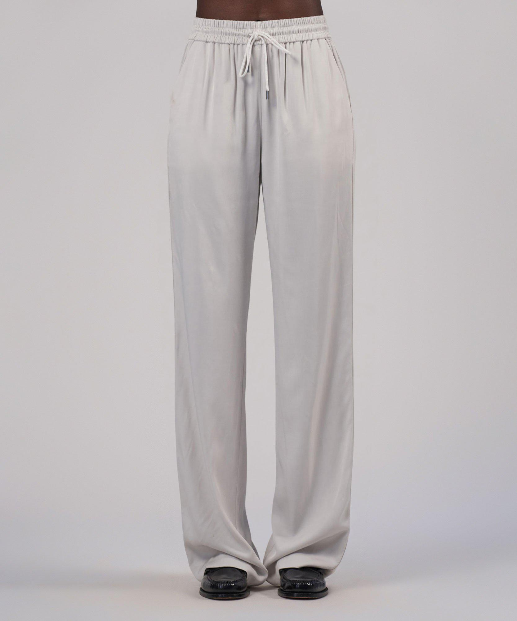 Viscose Twill Wide Leg Pull-On Pant - Gesso 4