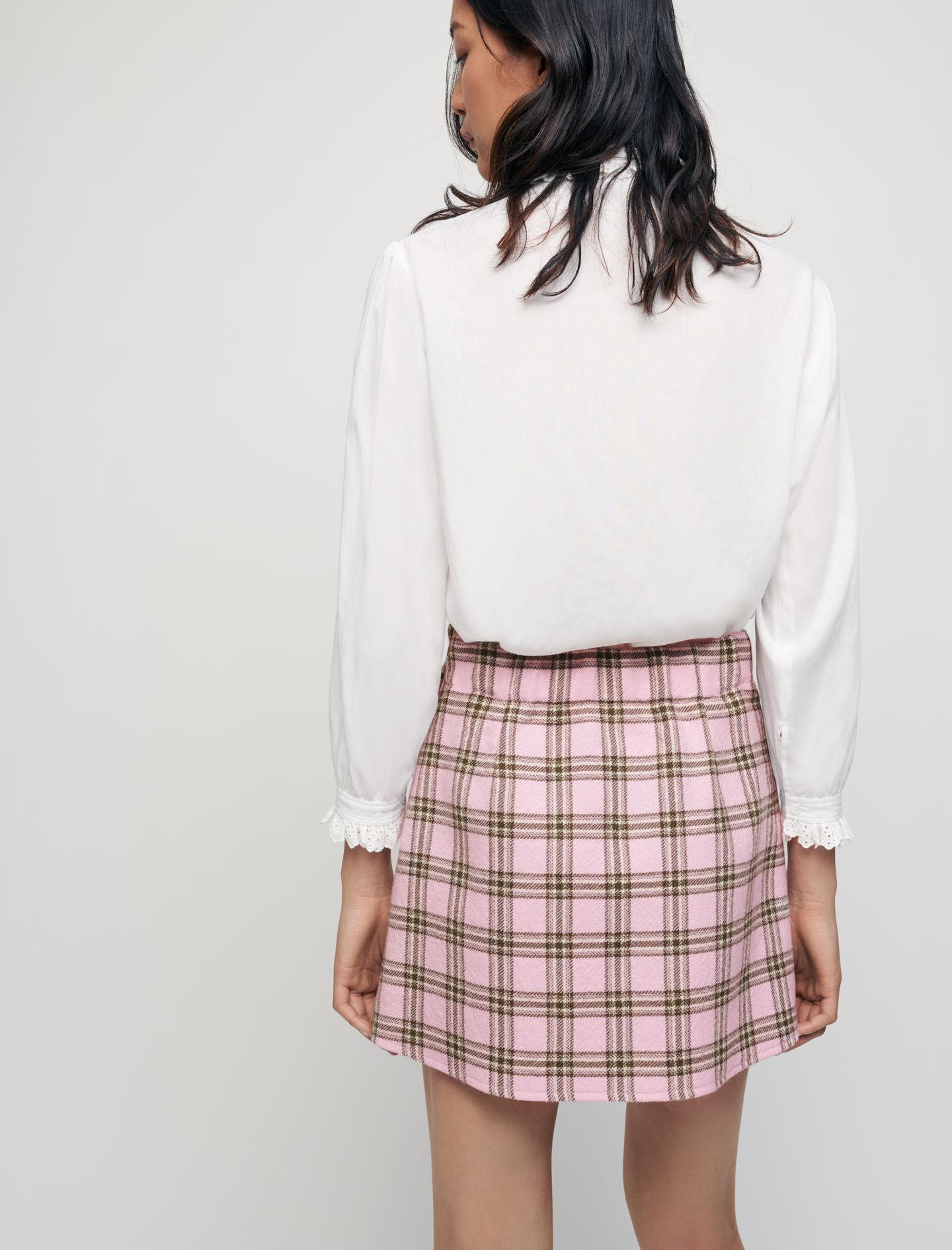 CHECKED PLEATED SKIRT 2