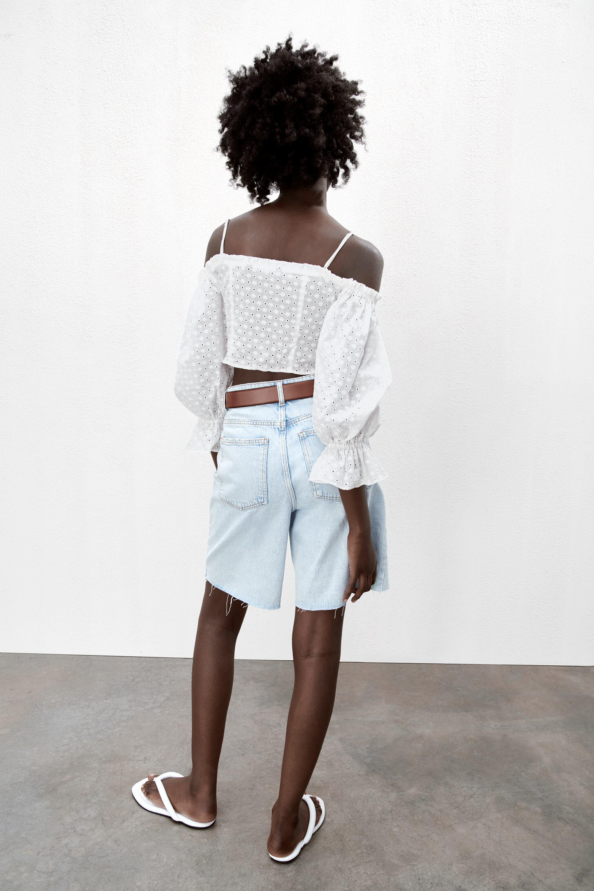 EMBROIDERED EYELET CROP TOP 3