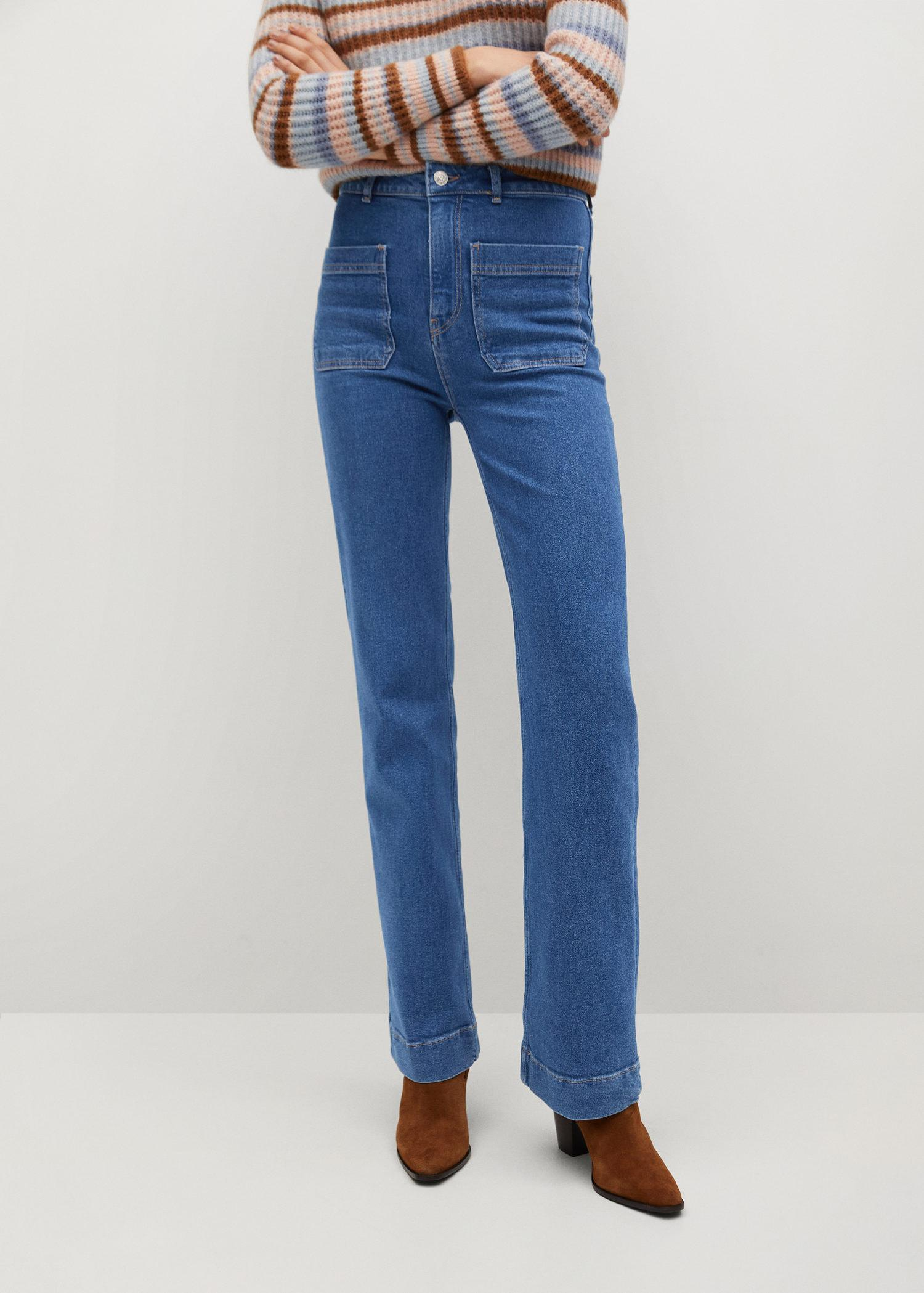 Wide-leg jeans with pockets