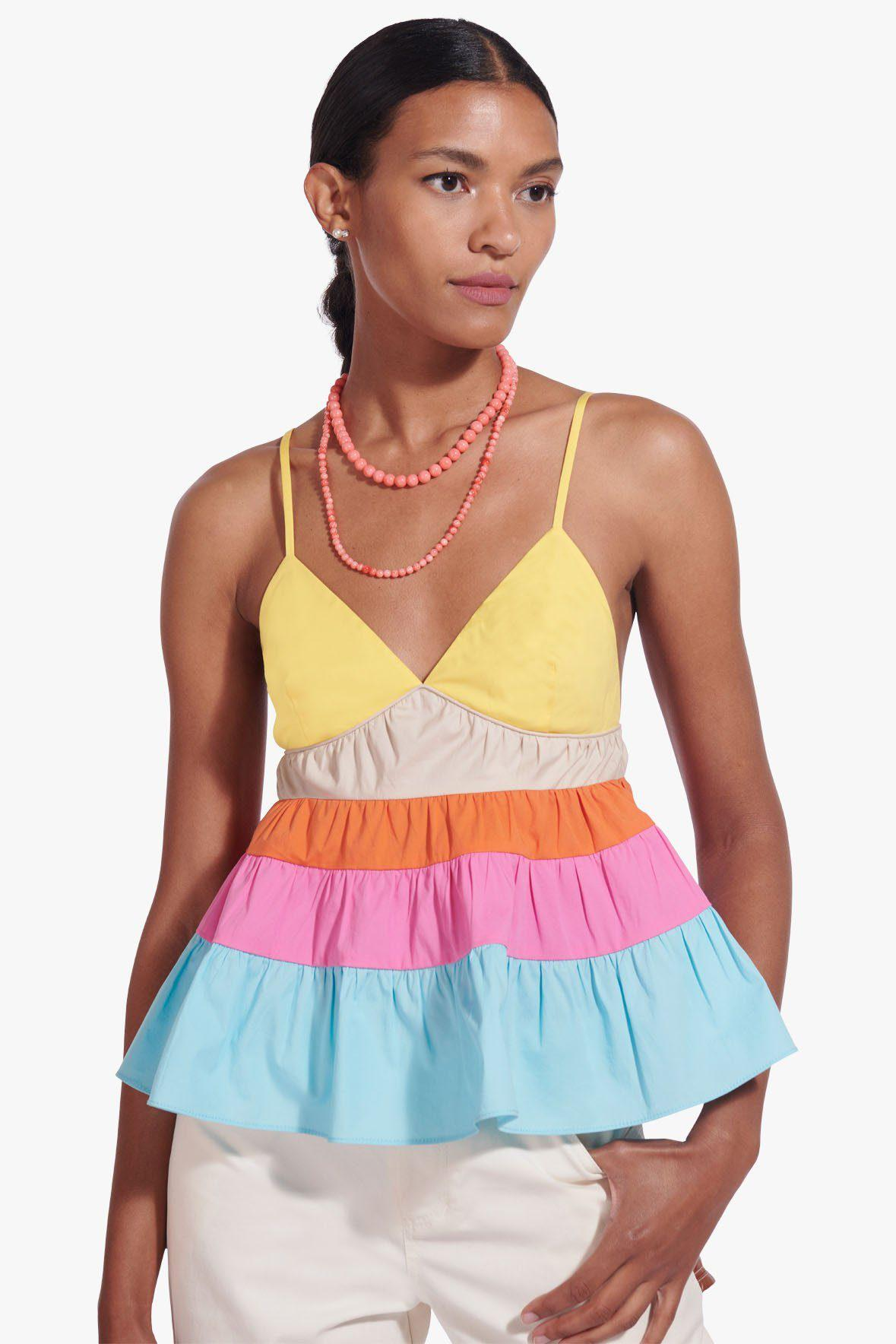 OLYMPIA TOP | TURQUOISE MULTI 0