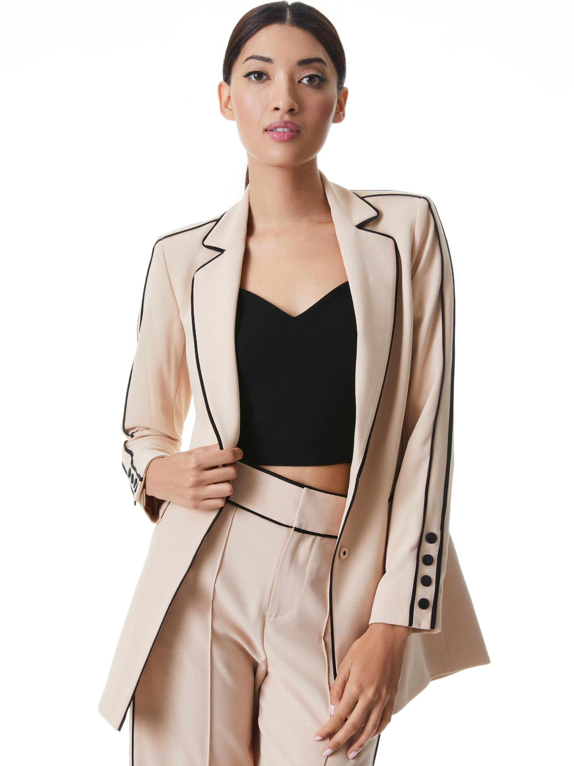 VALERIA PIPED FITTED BLAZER