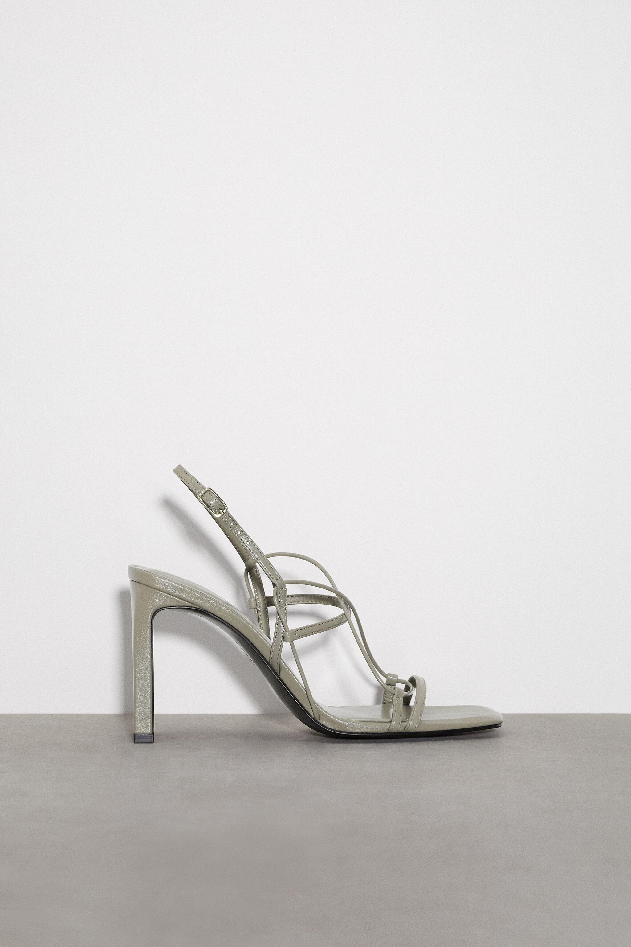 THIN STRAP LEATHER SANDALS 3