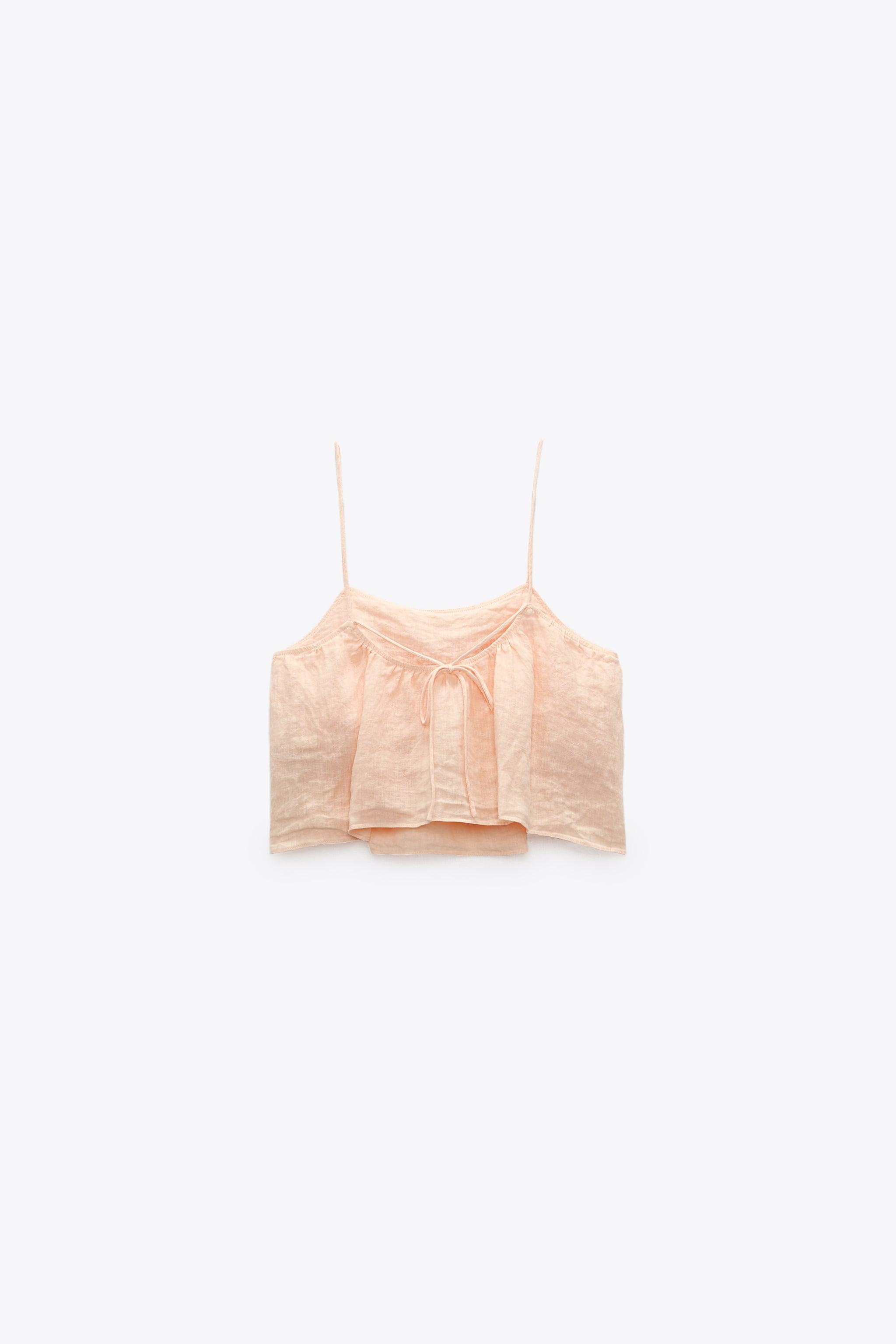 CROPPED LINEN TOP 3
