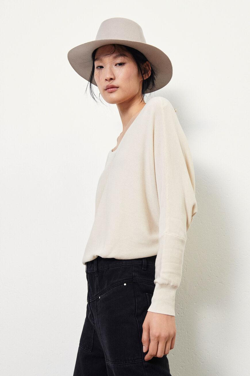 elsy.BACKLESS SWEATER