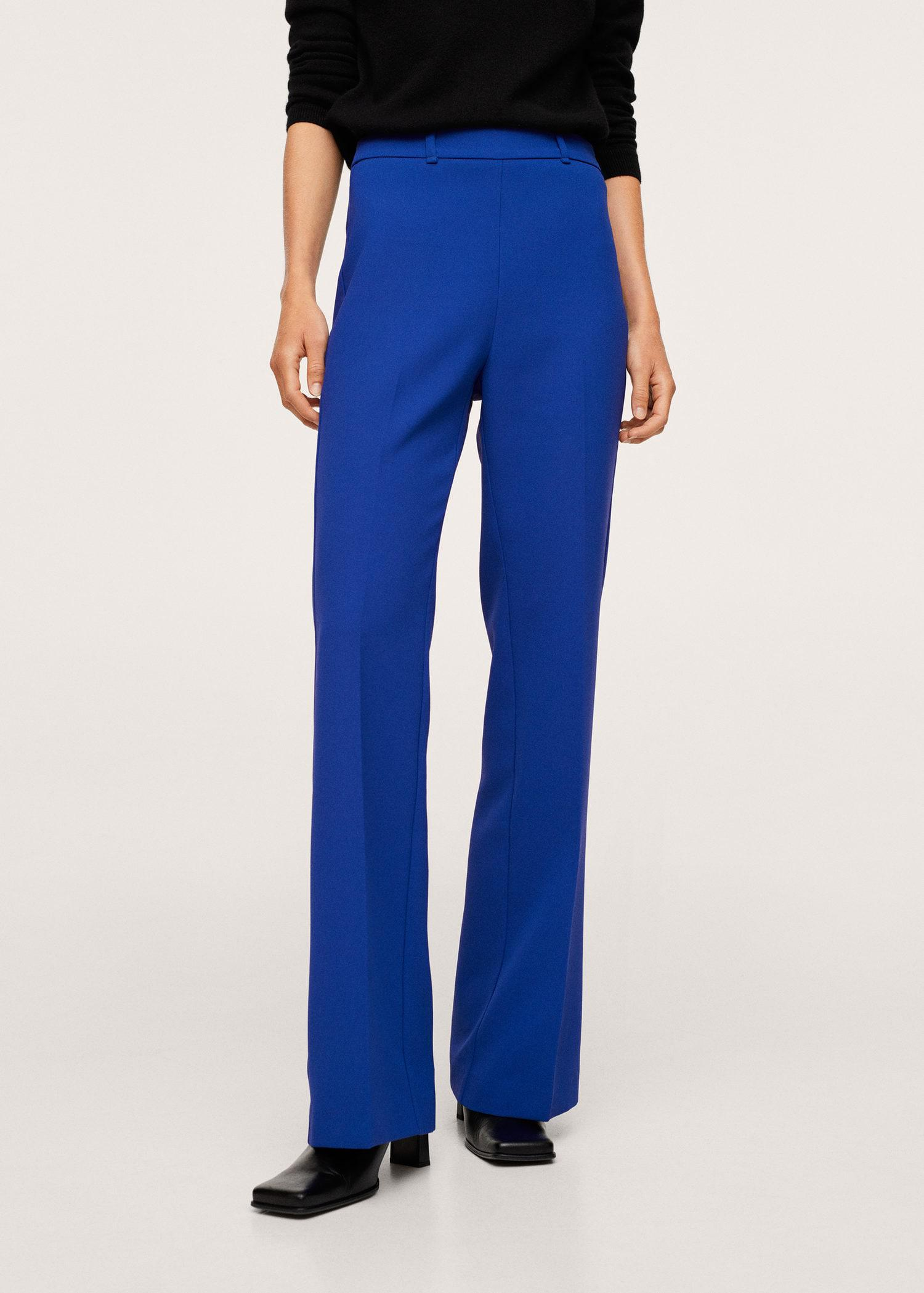 Pleat flare trousers