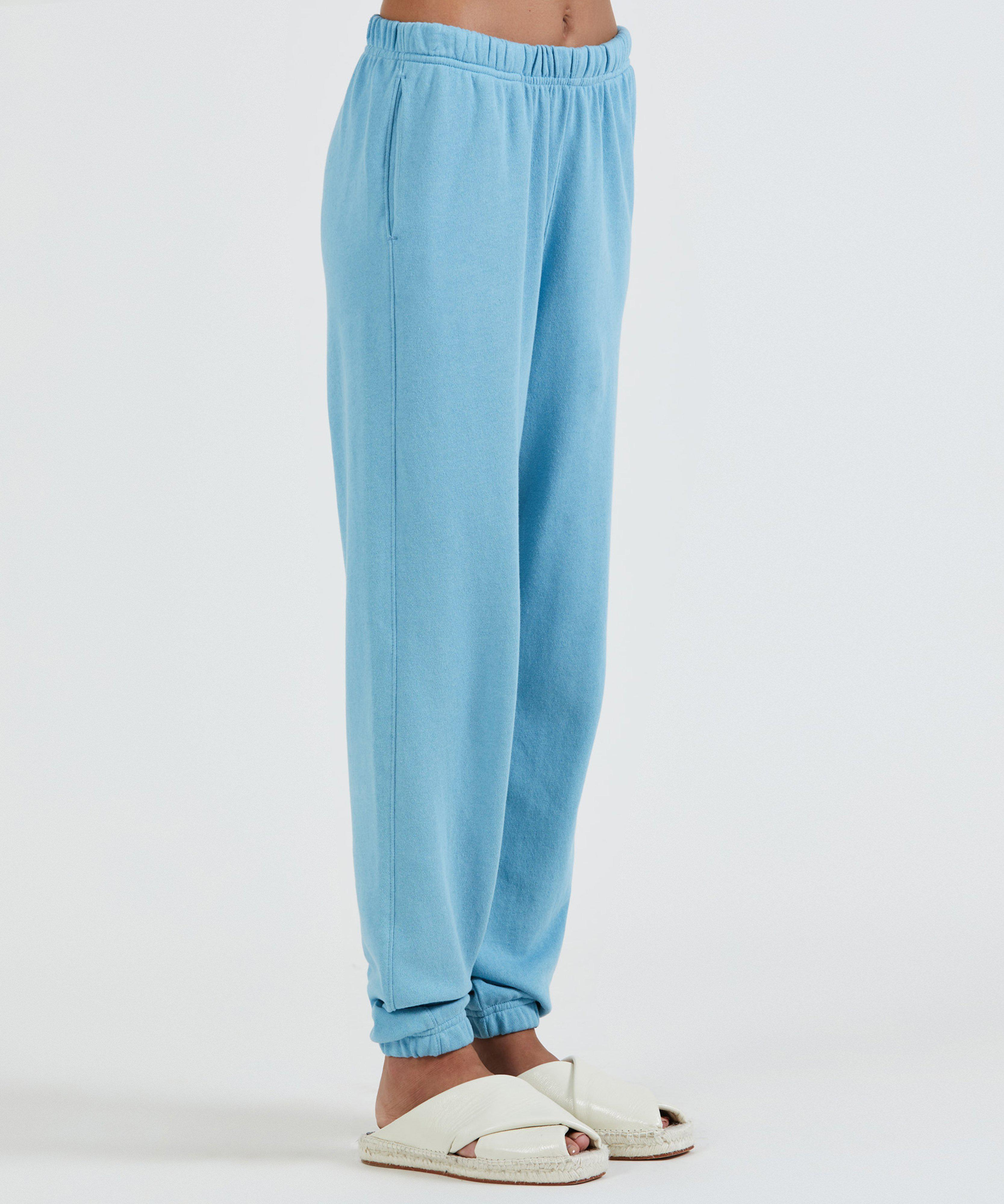French Terry Pull-On Pant - Ocean Blue 1