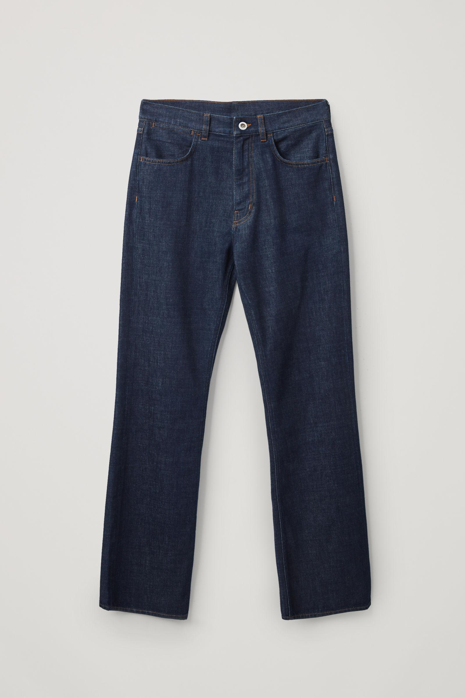 FLARED RECYCLED COTTON DENIM PANTS 8