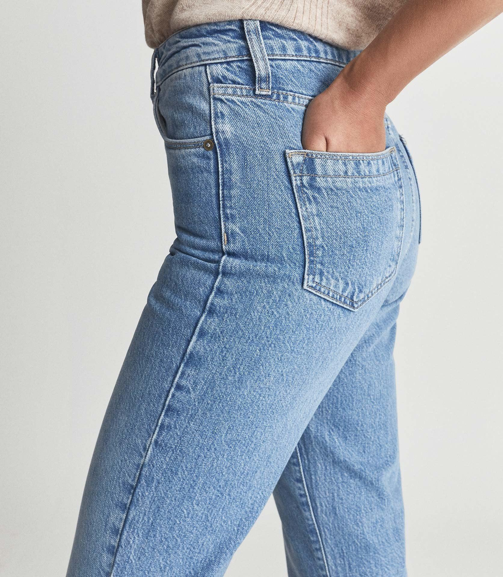 RAYE - HIGH RISE SLIM STRAIGHT FIT JEANS 4
