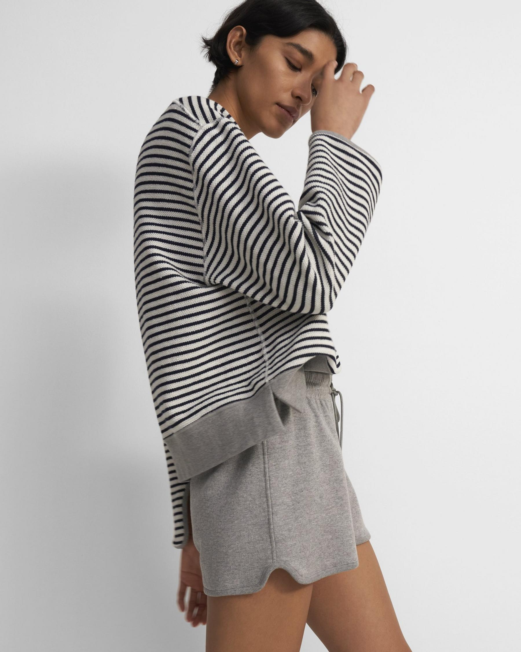 Reversible Pull-On Short in Cotton Terry