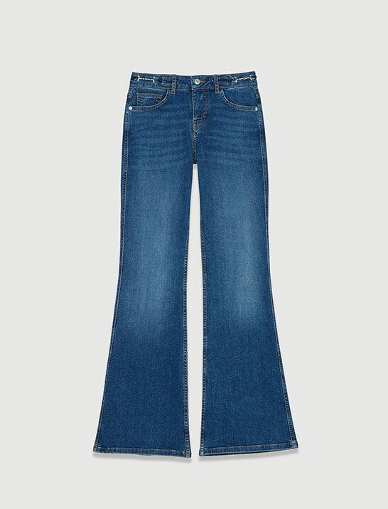 FLARED JEANS WITH HORSEBIT DETAIL 4