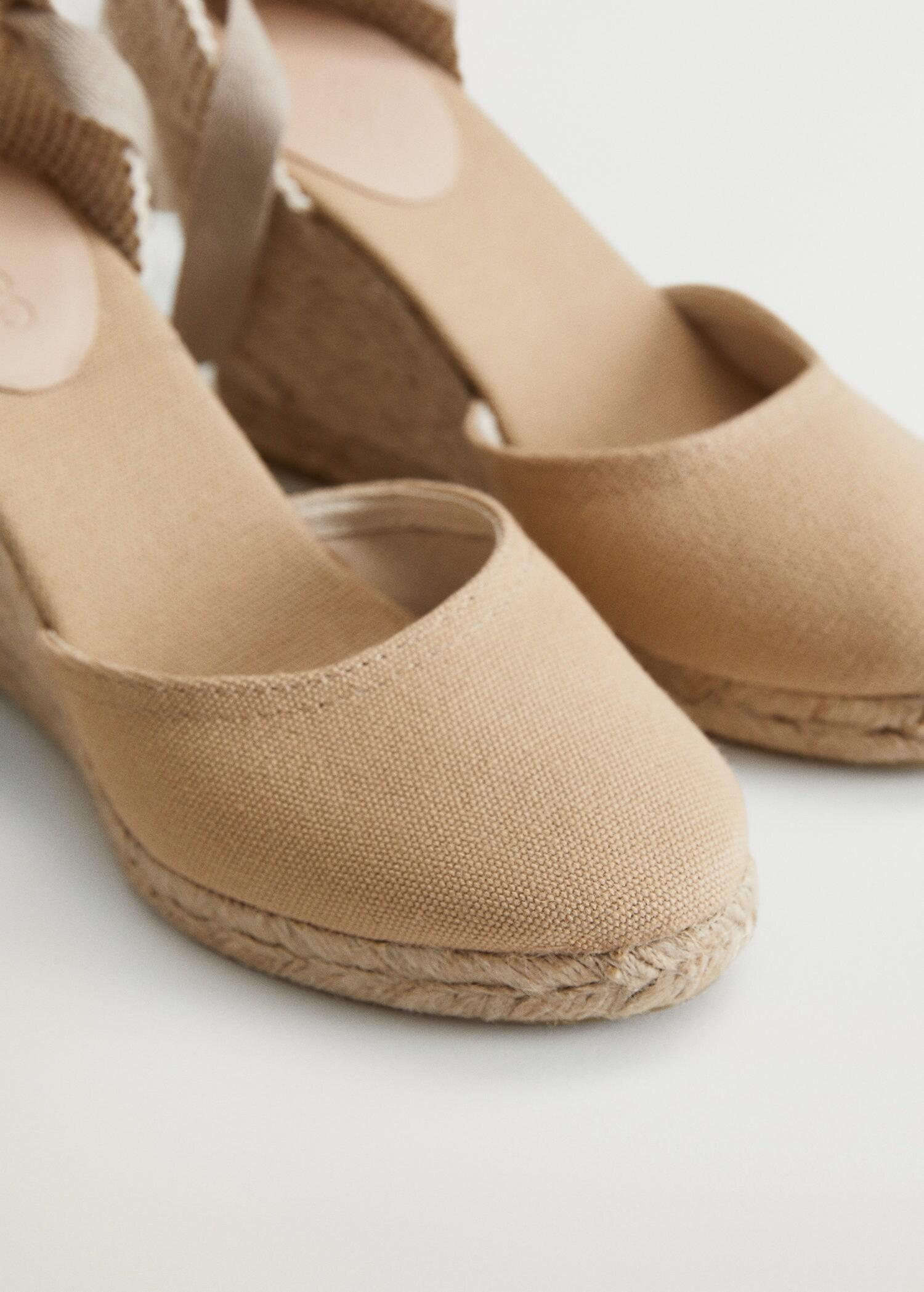 Wedge strips sandals 4
