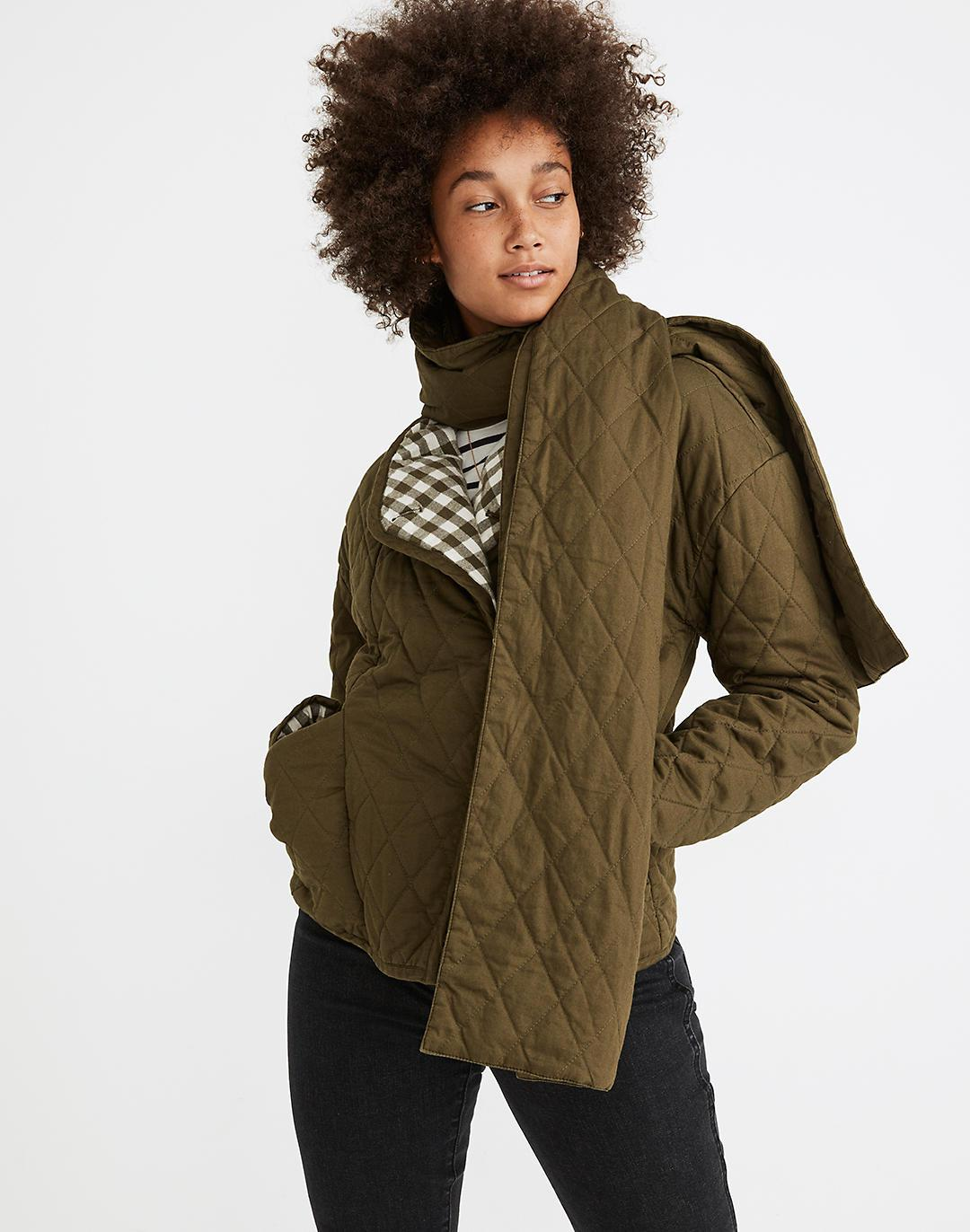 Reversible Quilted Scarf Jacket