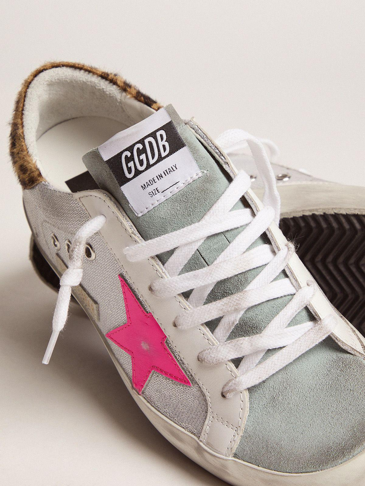 Super-Star sneakers with sequins and leopard-print heel tab 2