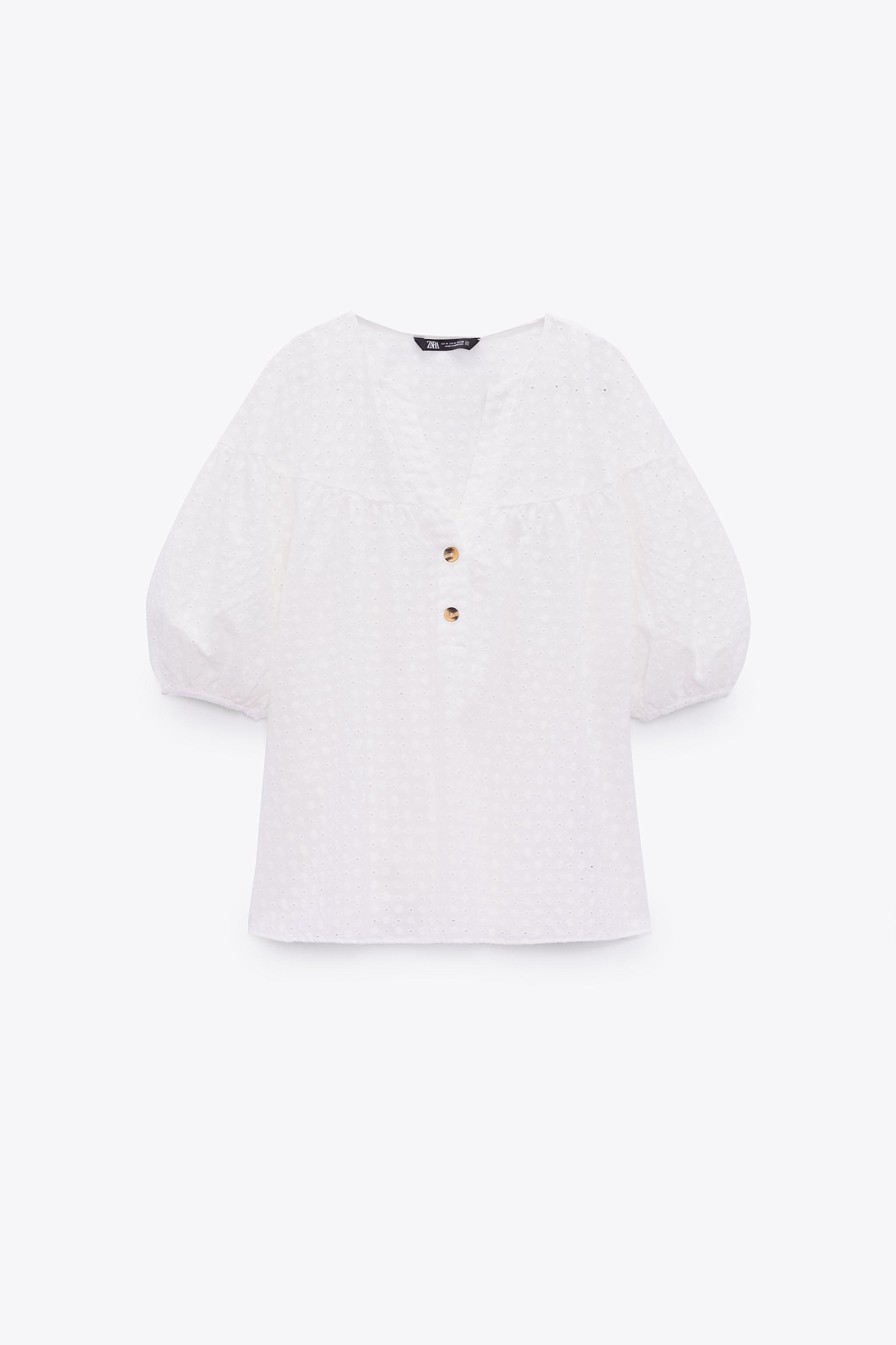 EMBROIDERED EYELET BLOUSE 3