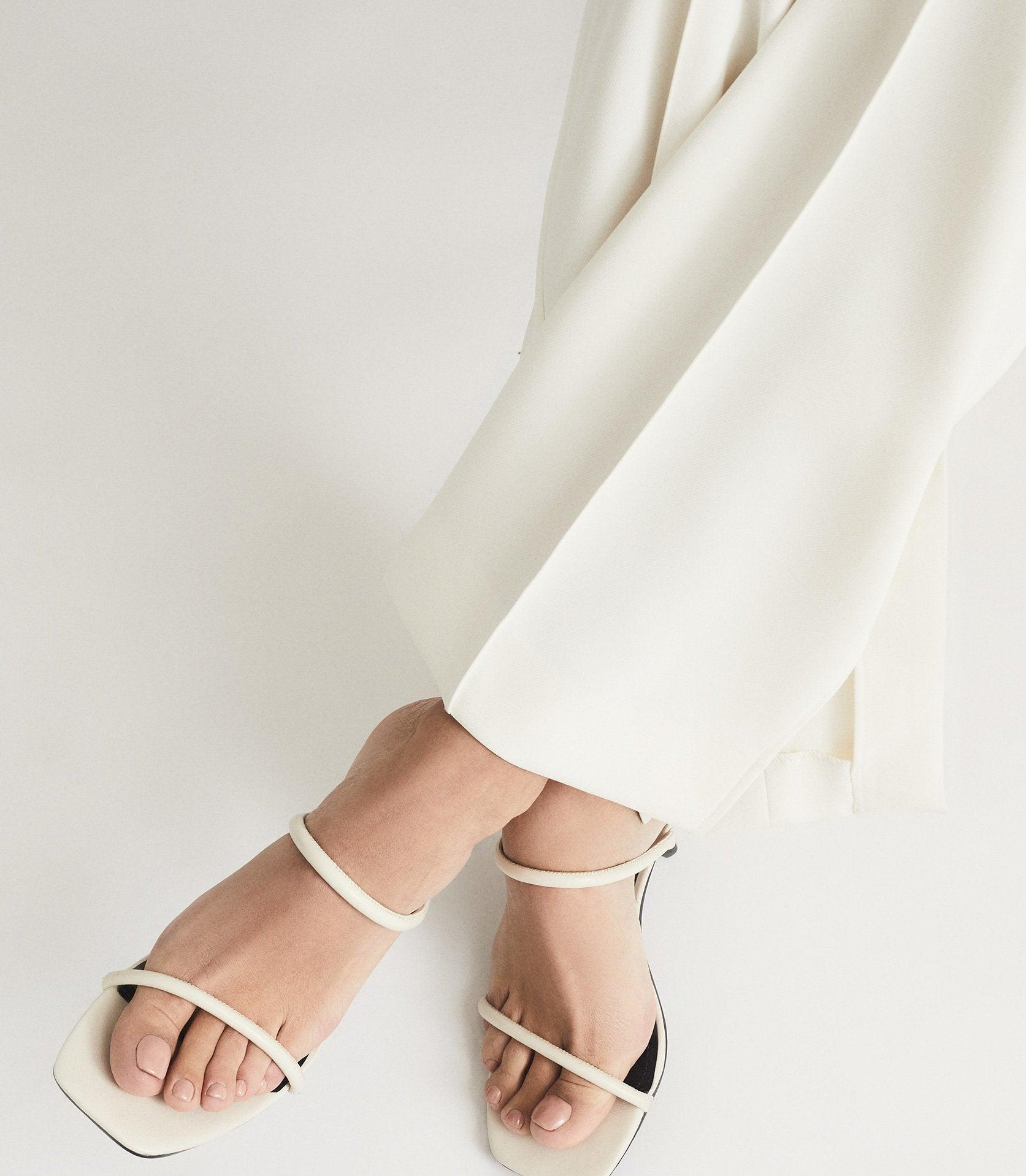 MAGDA - LEATHER STRAPPY HEELED SANDALS 5
