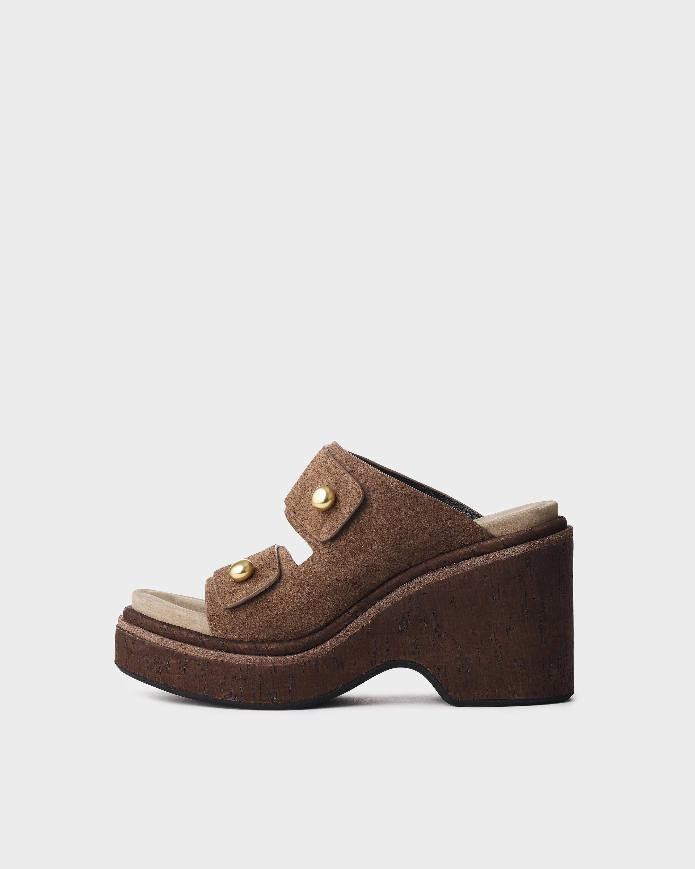 Sommer wedge - suede 0