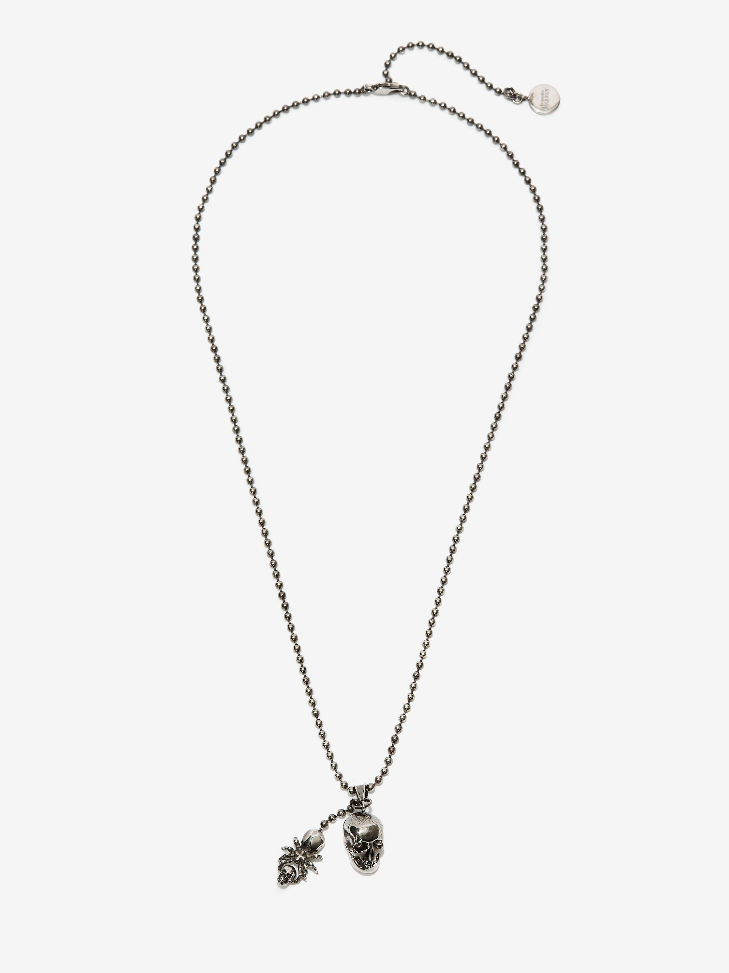 Spider and Skull Necklace 0