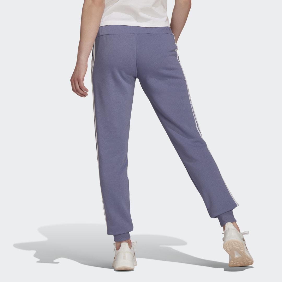 Essentials French Terry 3-Stripes Pants Orbit Violet 1