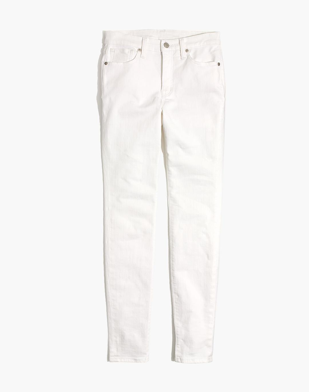 """Petite 9"""" Mid-Rise Skinny Jeans in Pure White 4"""