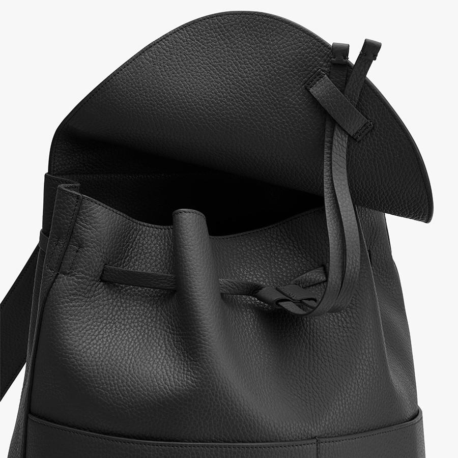 Women's Large Leather Backpack in Black | Pebbled Leather by Cuyana 1
