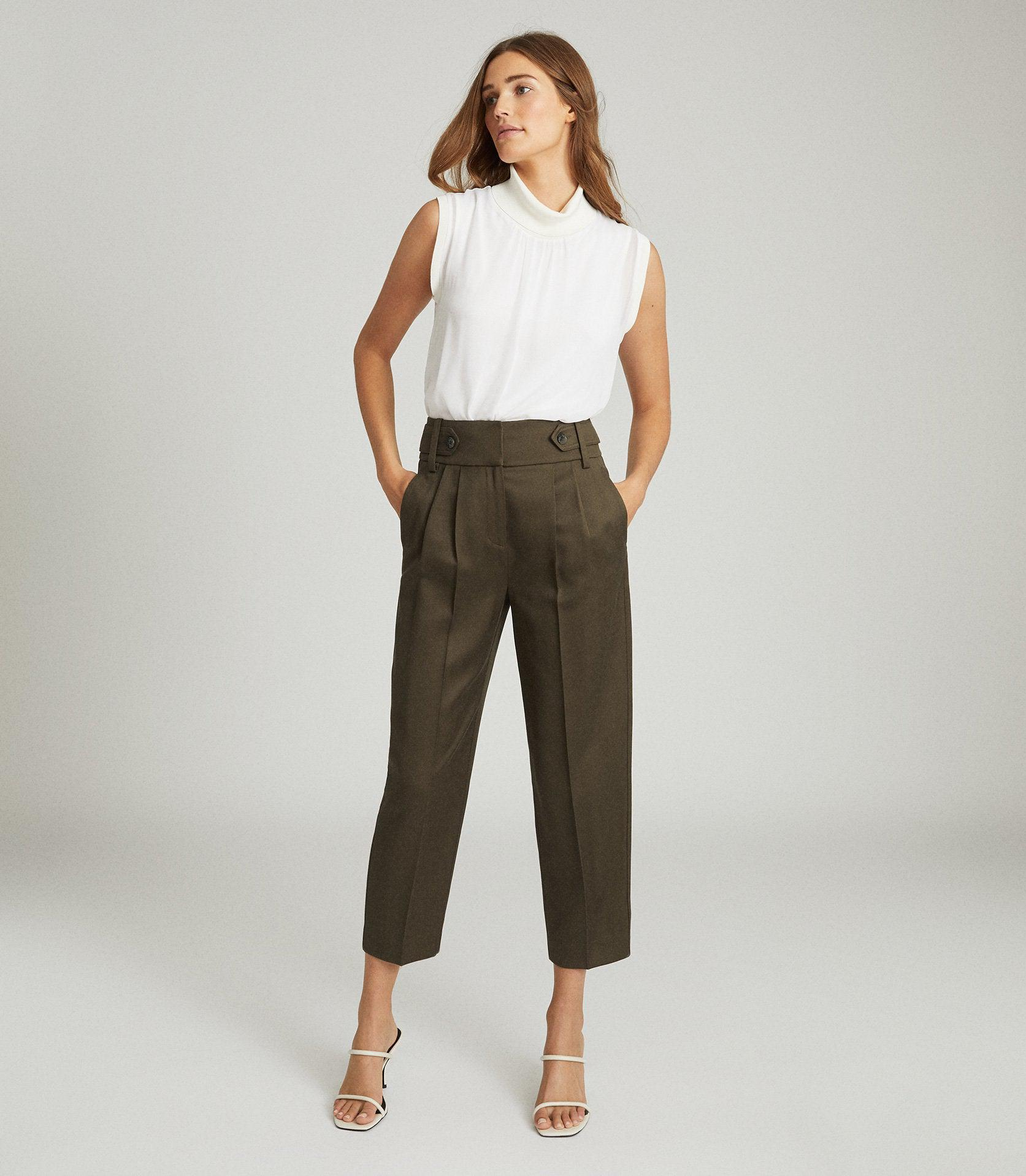 STANTON - CROPPED TAPERED TROUSERS