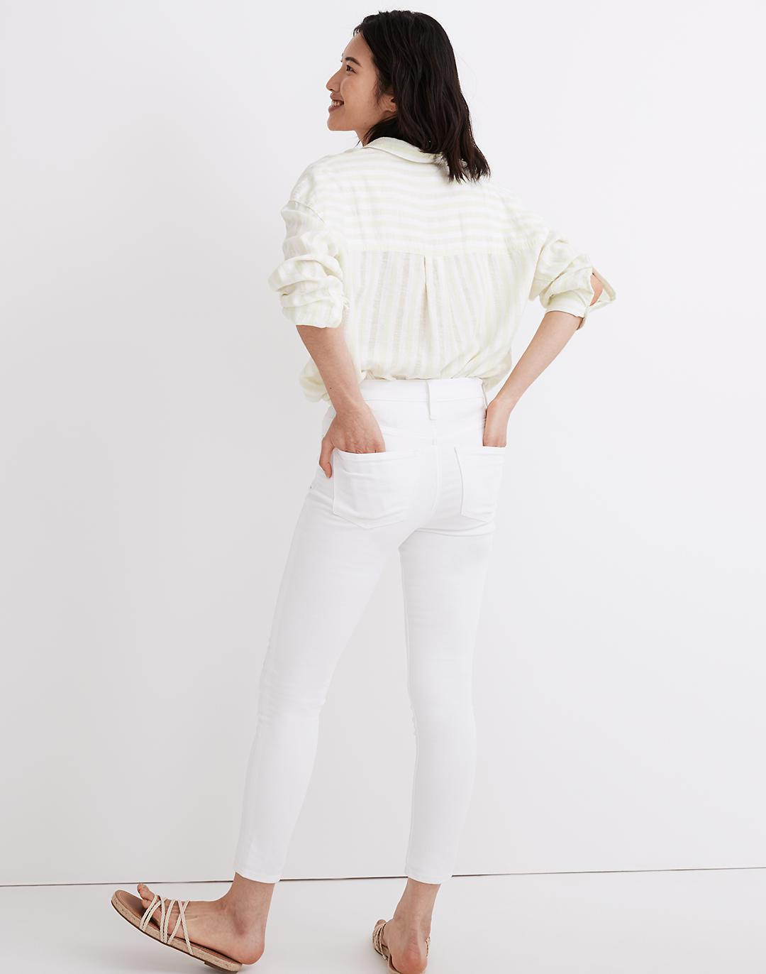 """9"""" Mid-Rise Skinny Crop Jeans in Pure White 2"""