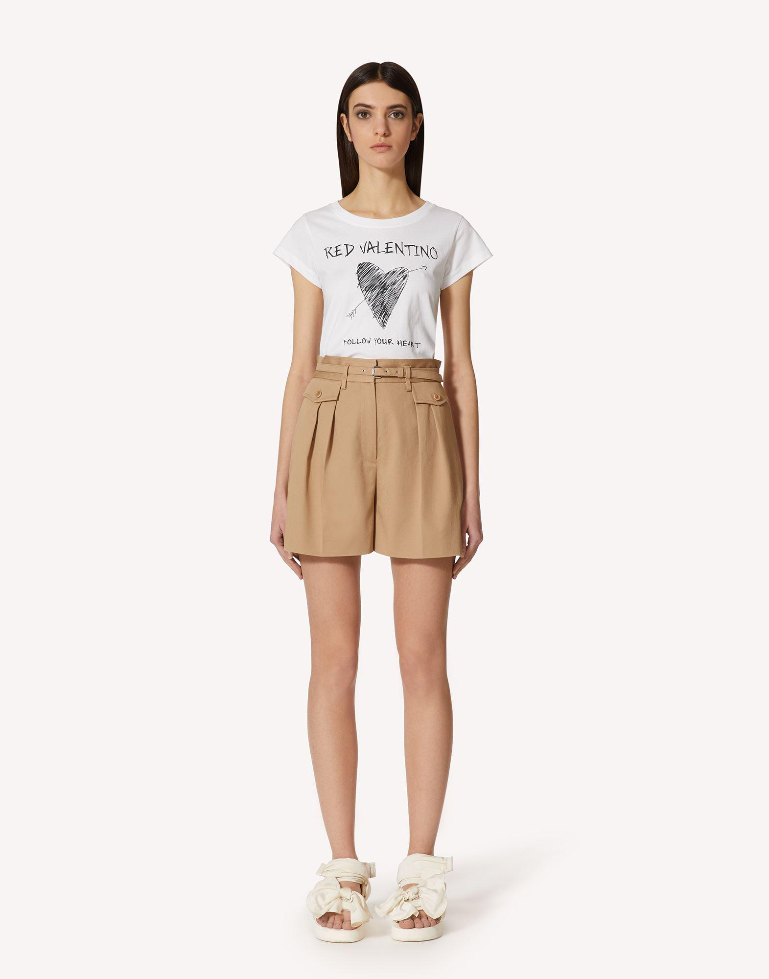 """T-SHIRT WITH REDVALENTINO """"FOLLOW YOUR HEART"""" PRINT."""