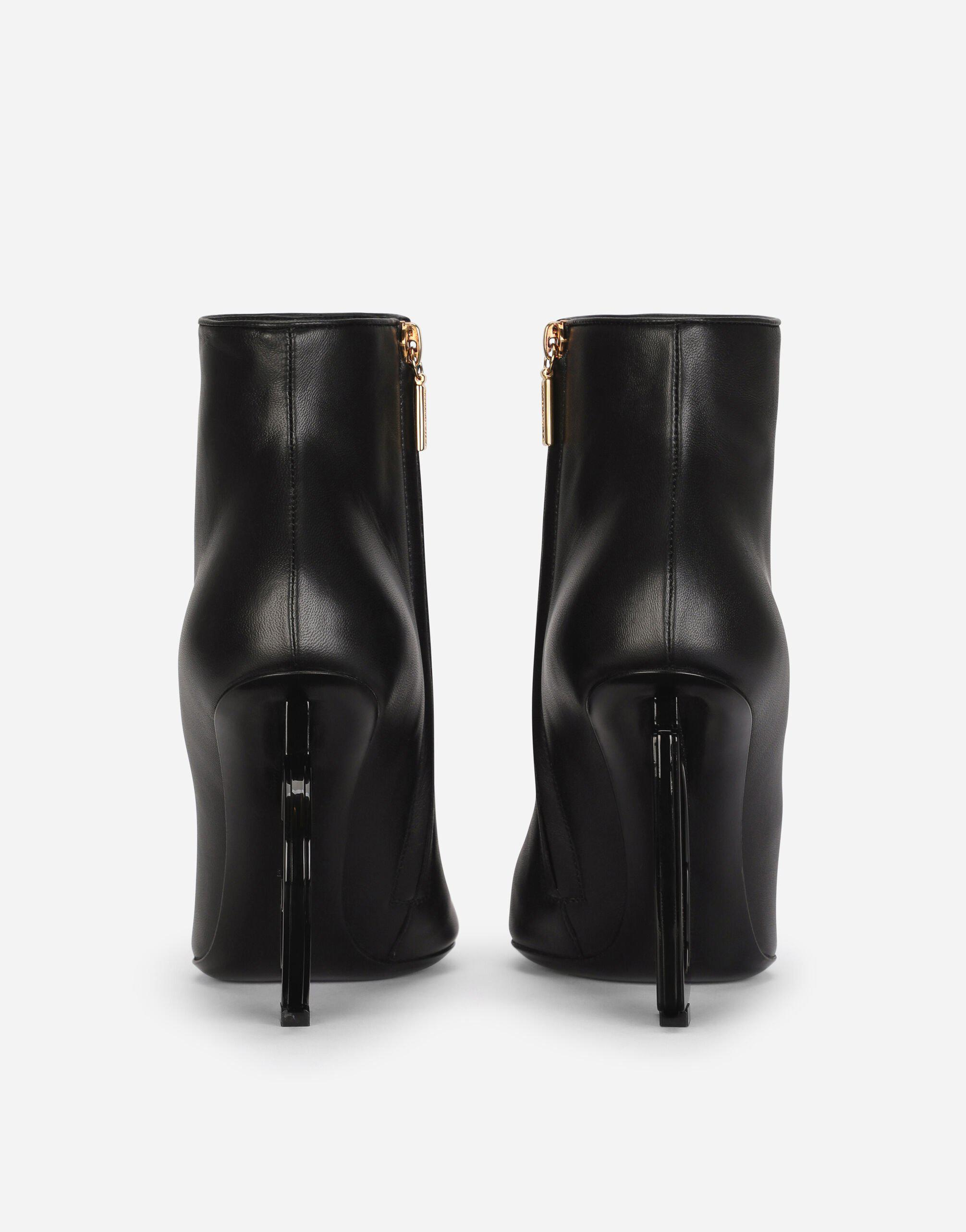 Nappa leather ankle boots with DG heel 2