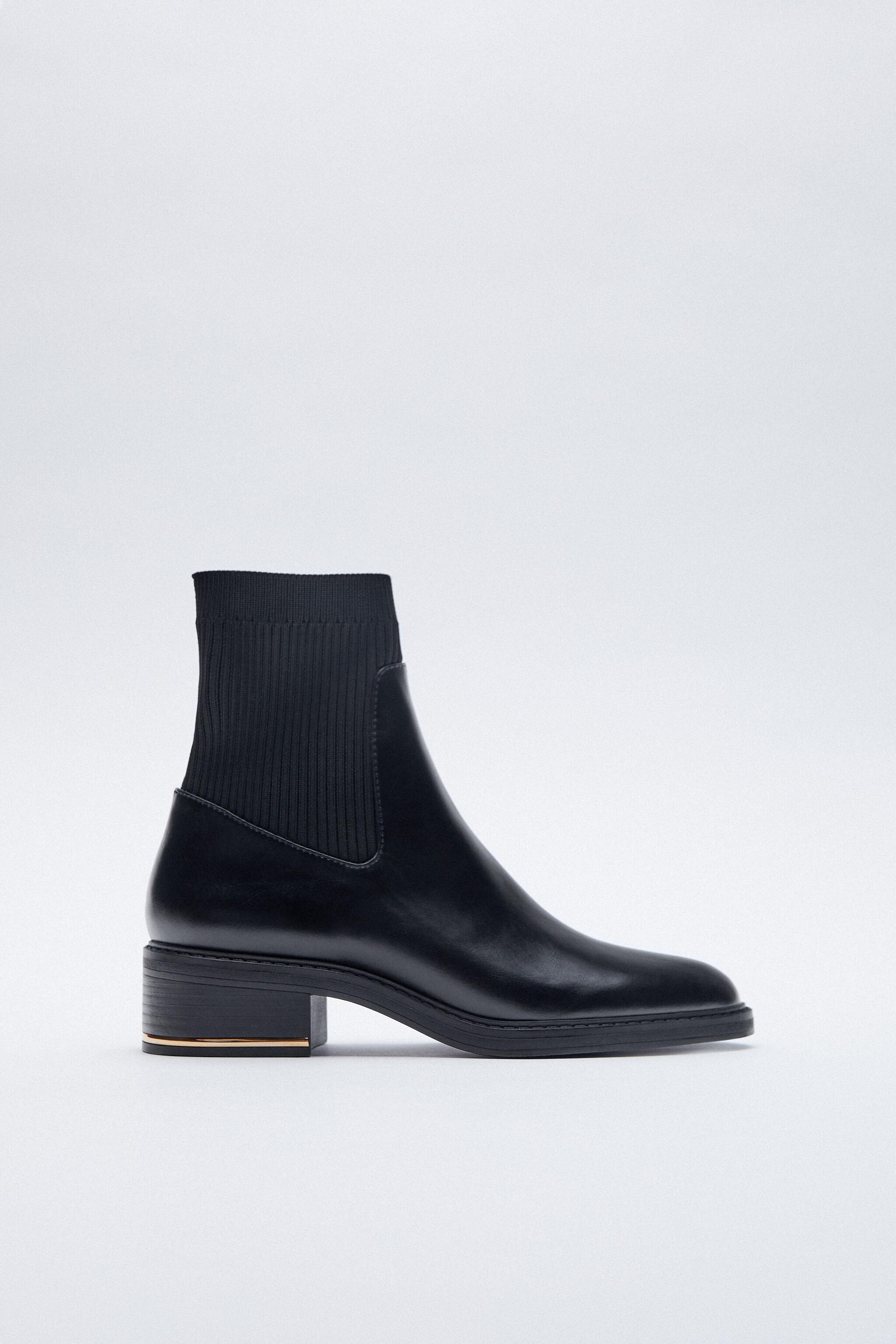 LOW HEELED SOCK-STYLE ANKLE BOOTS 1